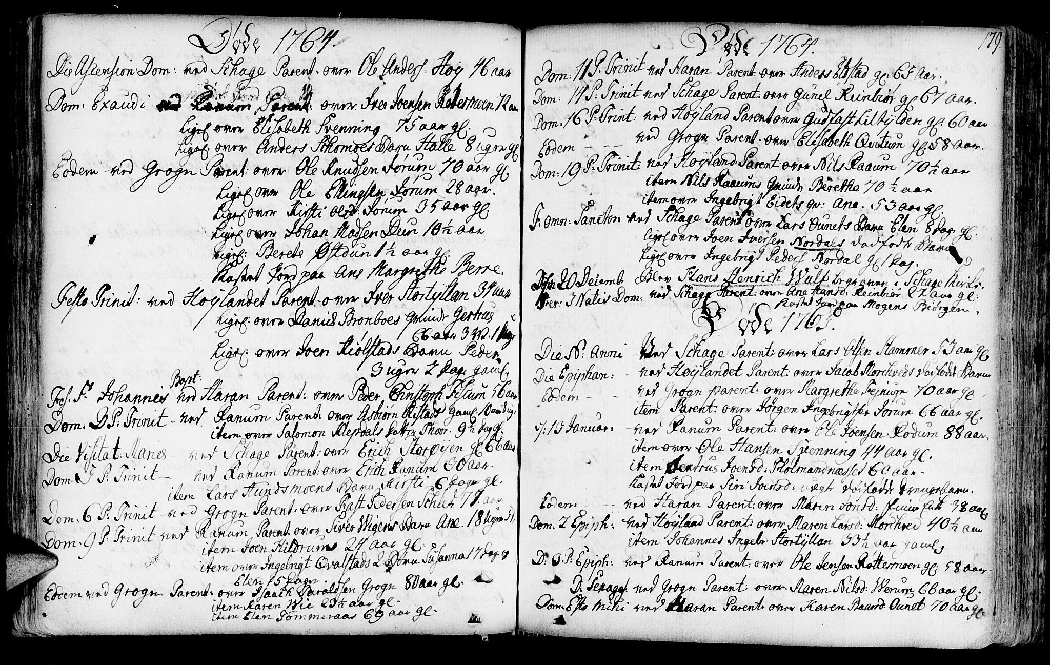 SAT, Ministerialprotokoller, klokkerbøker og fødselsregistre - Nord-Trøndelag, 764/L0542: Ministerialbok nr. 764A02, 1748-1779, s. 179