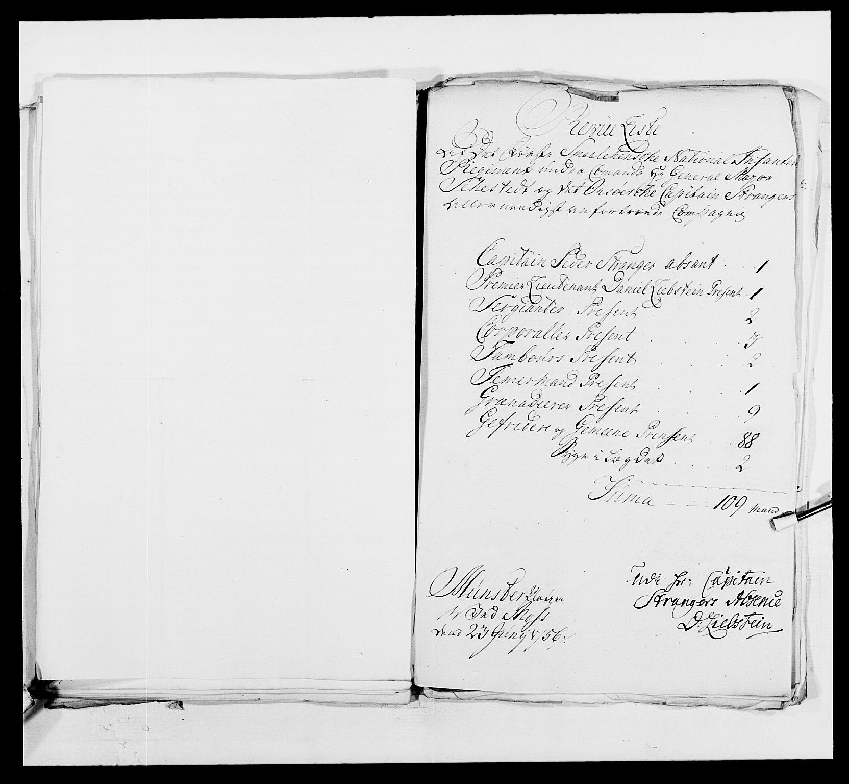 RA, Kommanderende general (KG I) med Det norske krigsdirektorium, E/Ea/L0495: 1. Smålenske regiment, 1732-1763, s. 612
