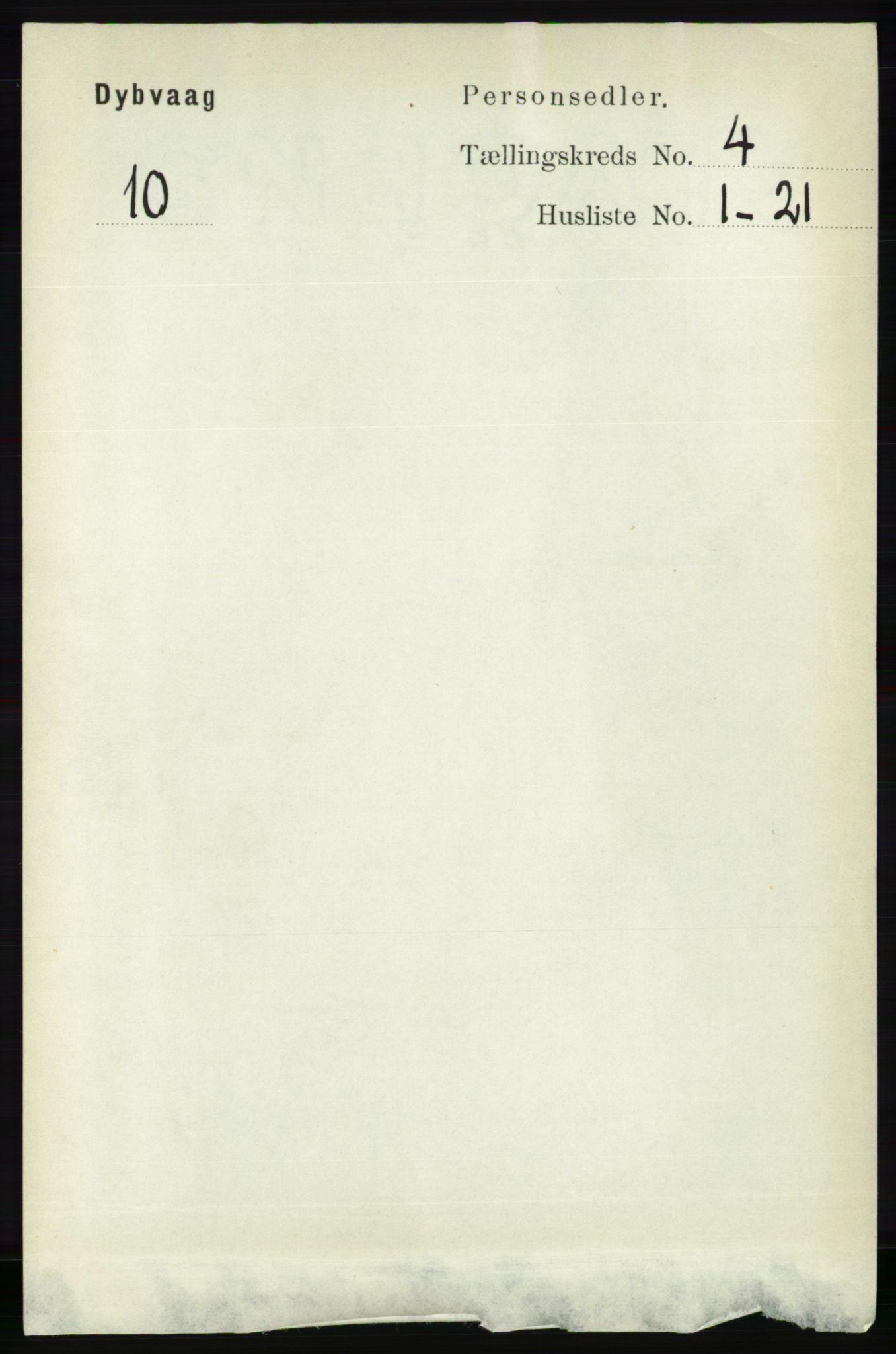RA, Folketelling 1891 for 0915 Dypvåg herred, 1891, s. 1013