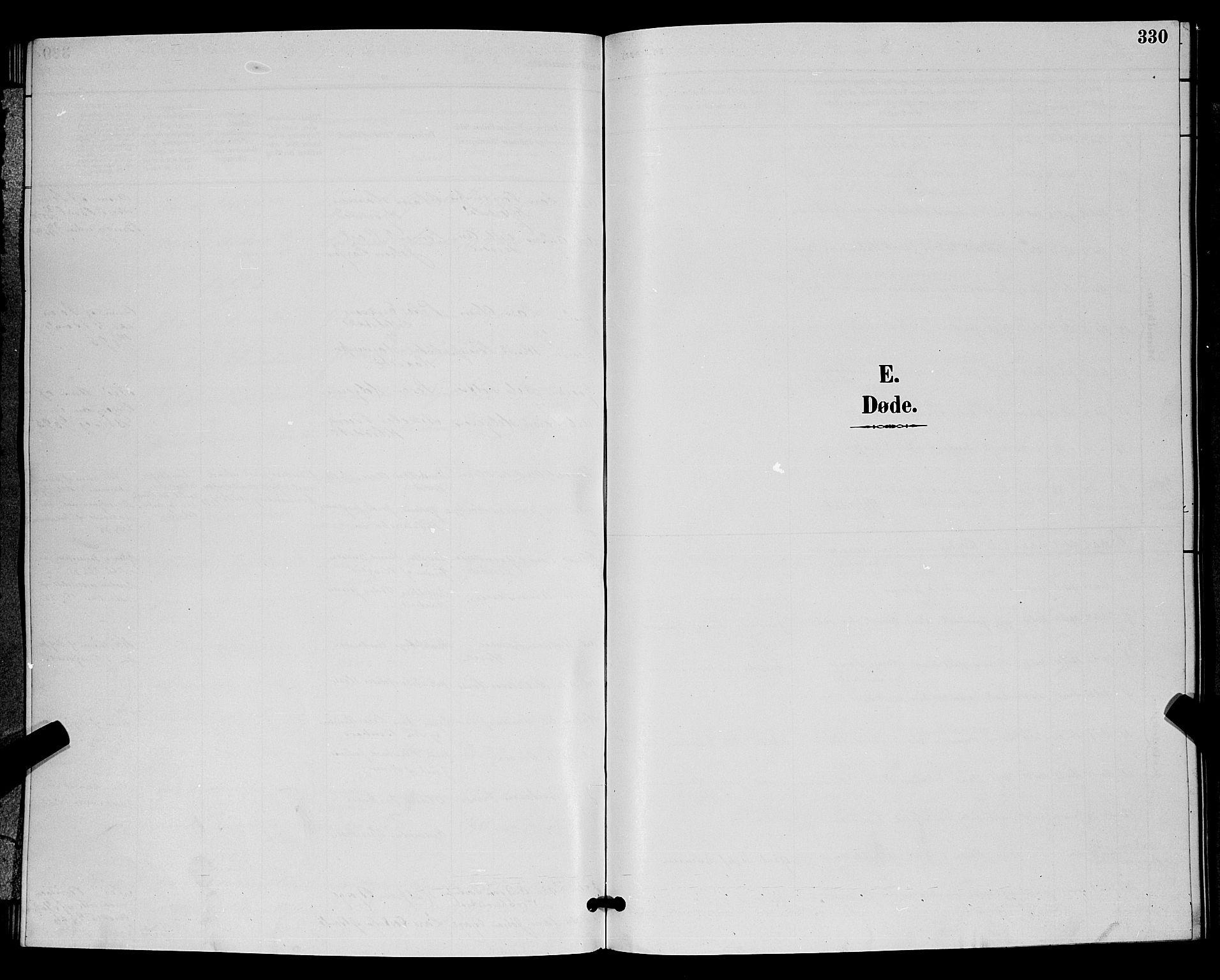 SAKO, Bamble kirkebøker, G/Ga/L0009: Klokkerbok nr. I 9, 1888-1900, s. 330