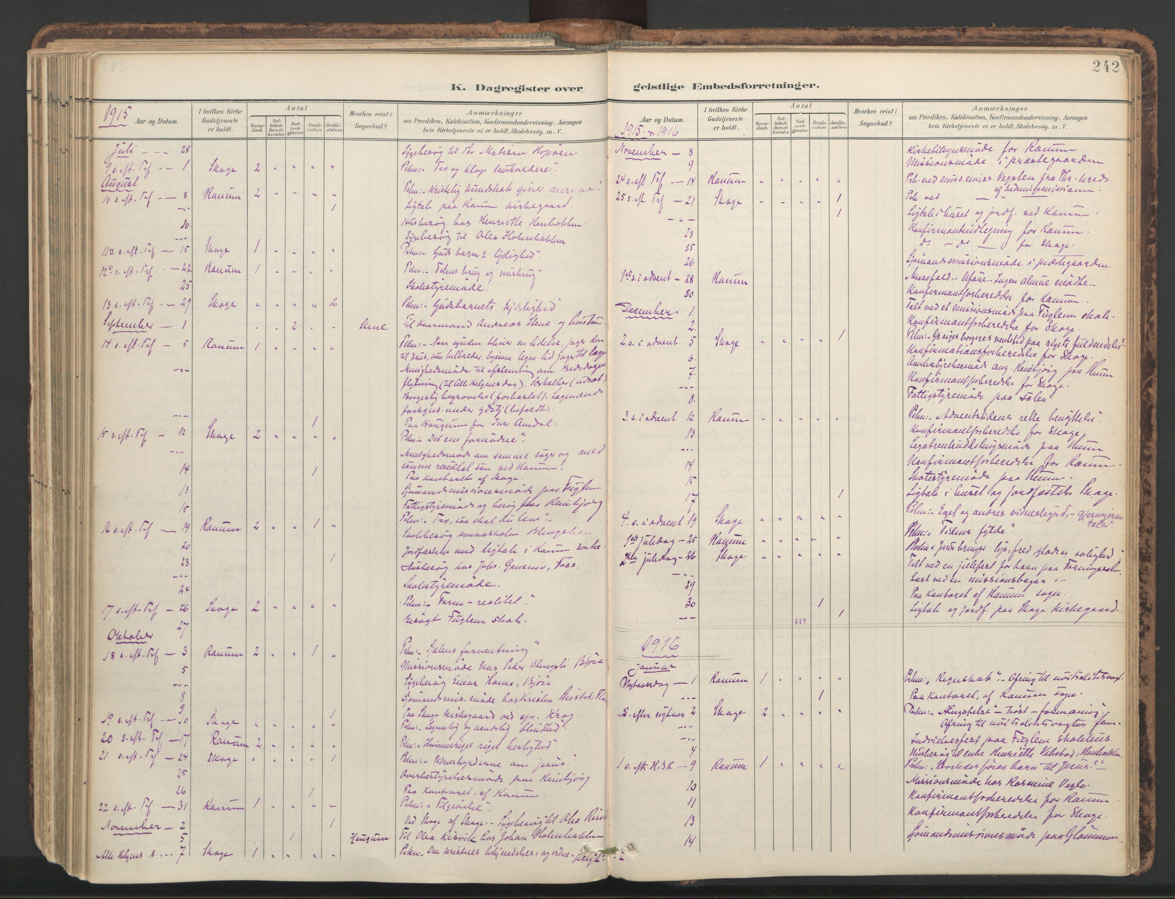 SAT, Ministerialprotokoller, klokkerbøker og fødselsregistre - Nord-Trøndelag, 764/L0556: Ministerialbok nr. 764A11, 1897-1924, s. 242