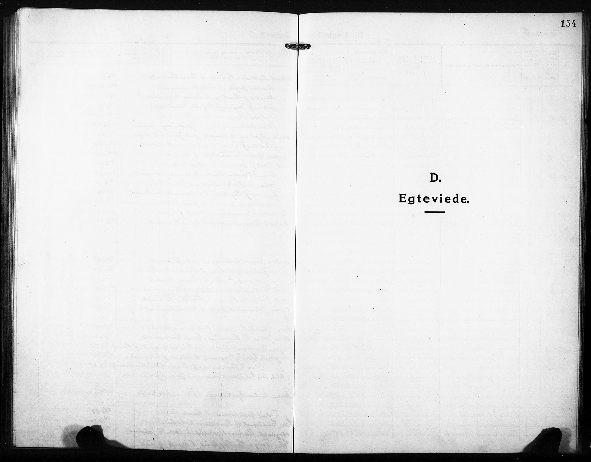 SAH, Søndre Land prestekontor, L/L0007: Klokkerbok nr. 7, 1915-1932, s. 154
