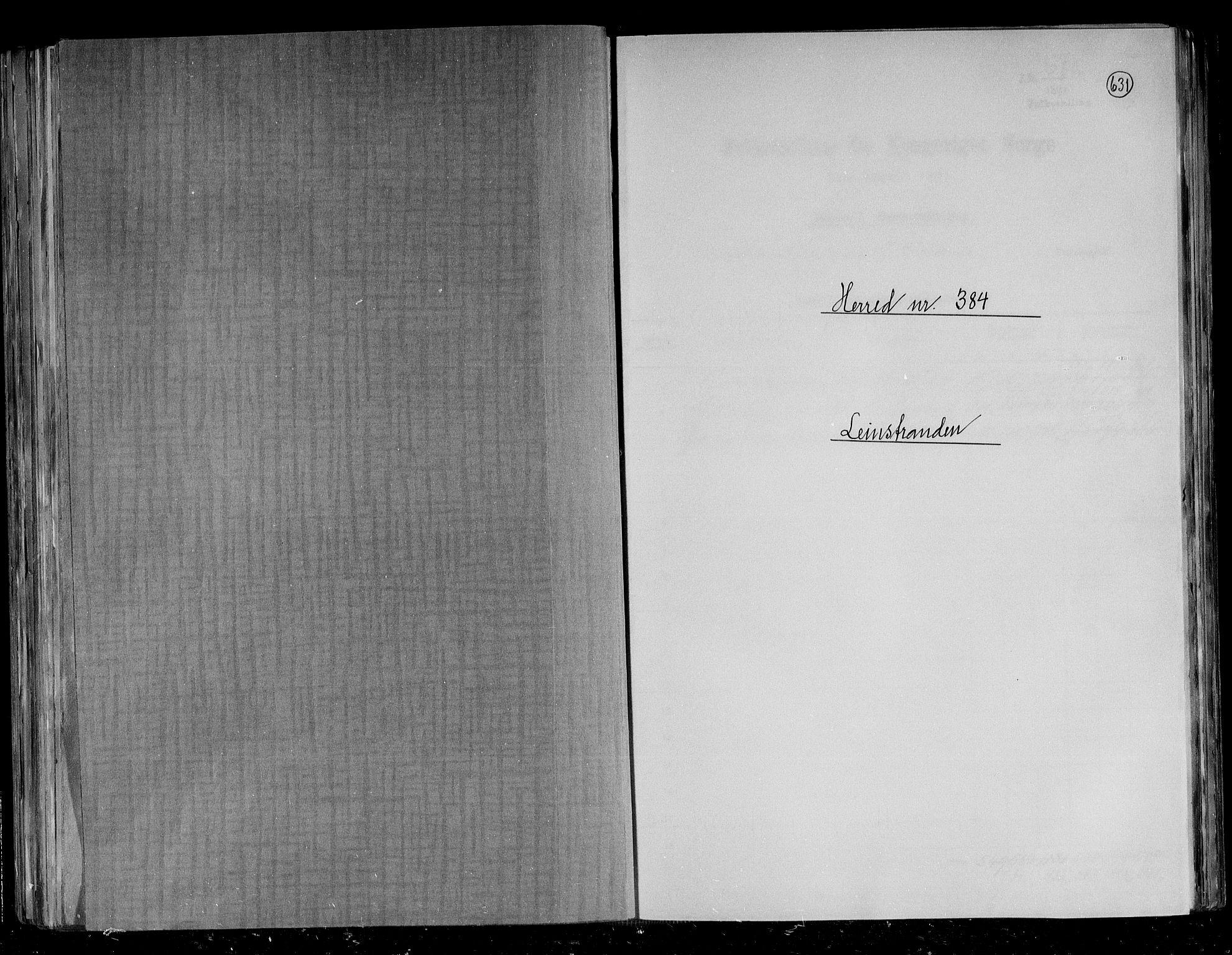 RA, Folketelling 1891 for 1654 Leinstrand herred, 1891, s. 1