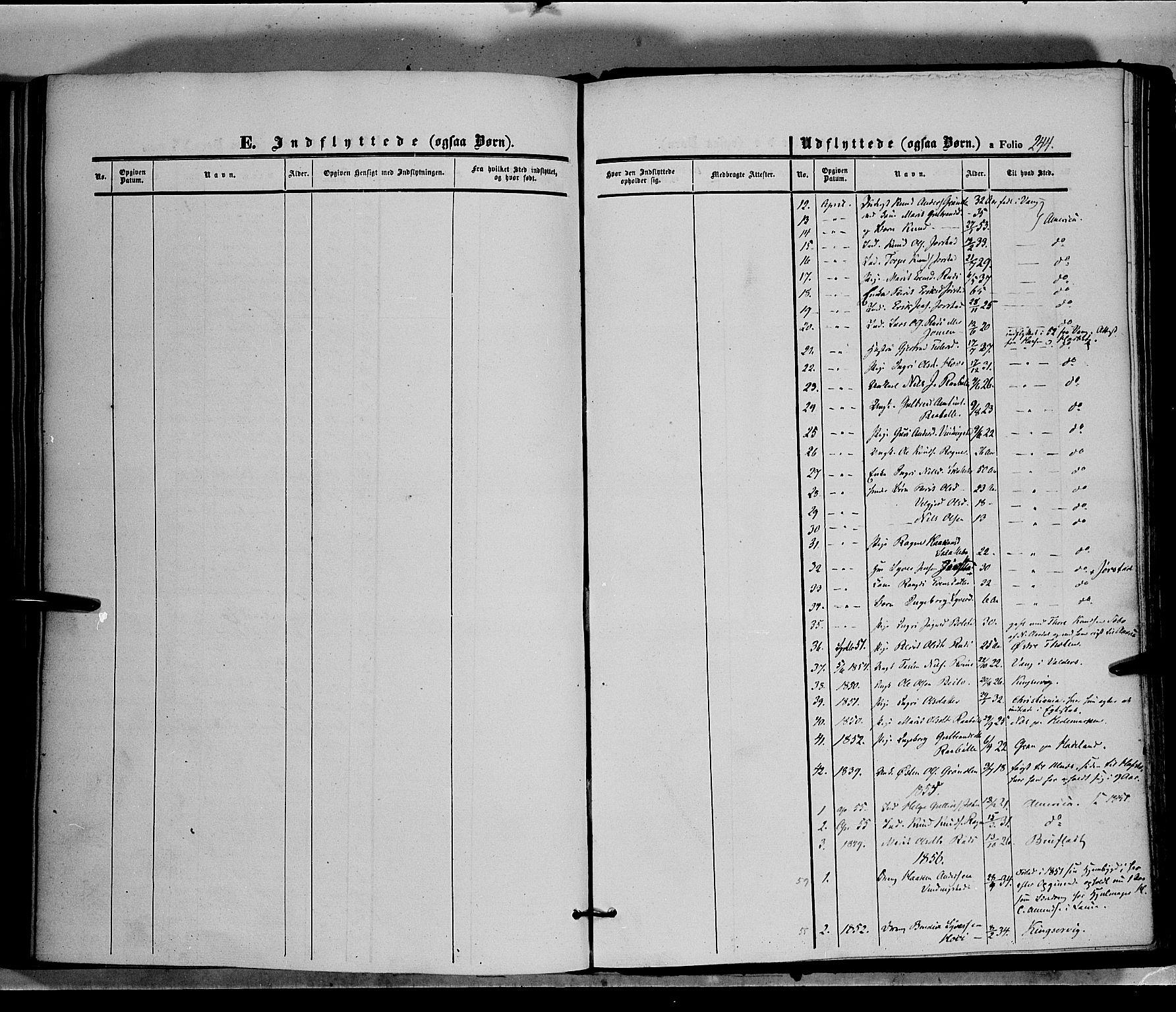 SAH, Øystre Slidre prestekontor, Ministerialbok nr. 1, 1849-1874, s. 243