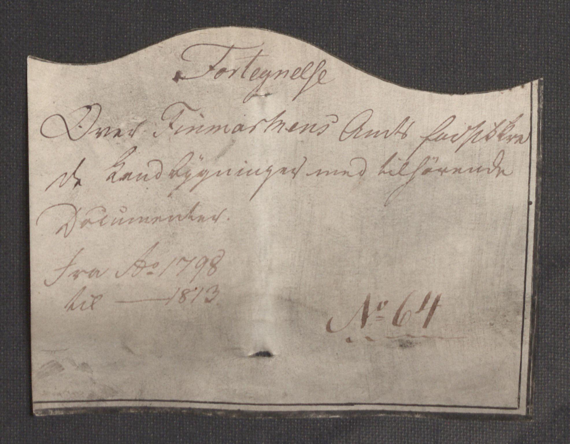 RA, Kommersekollegiet, Brannforsikringskontoret 1767-1814, F/Fb/L0064: Finnmarkens amt, 1798-1811