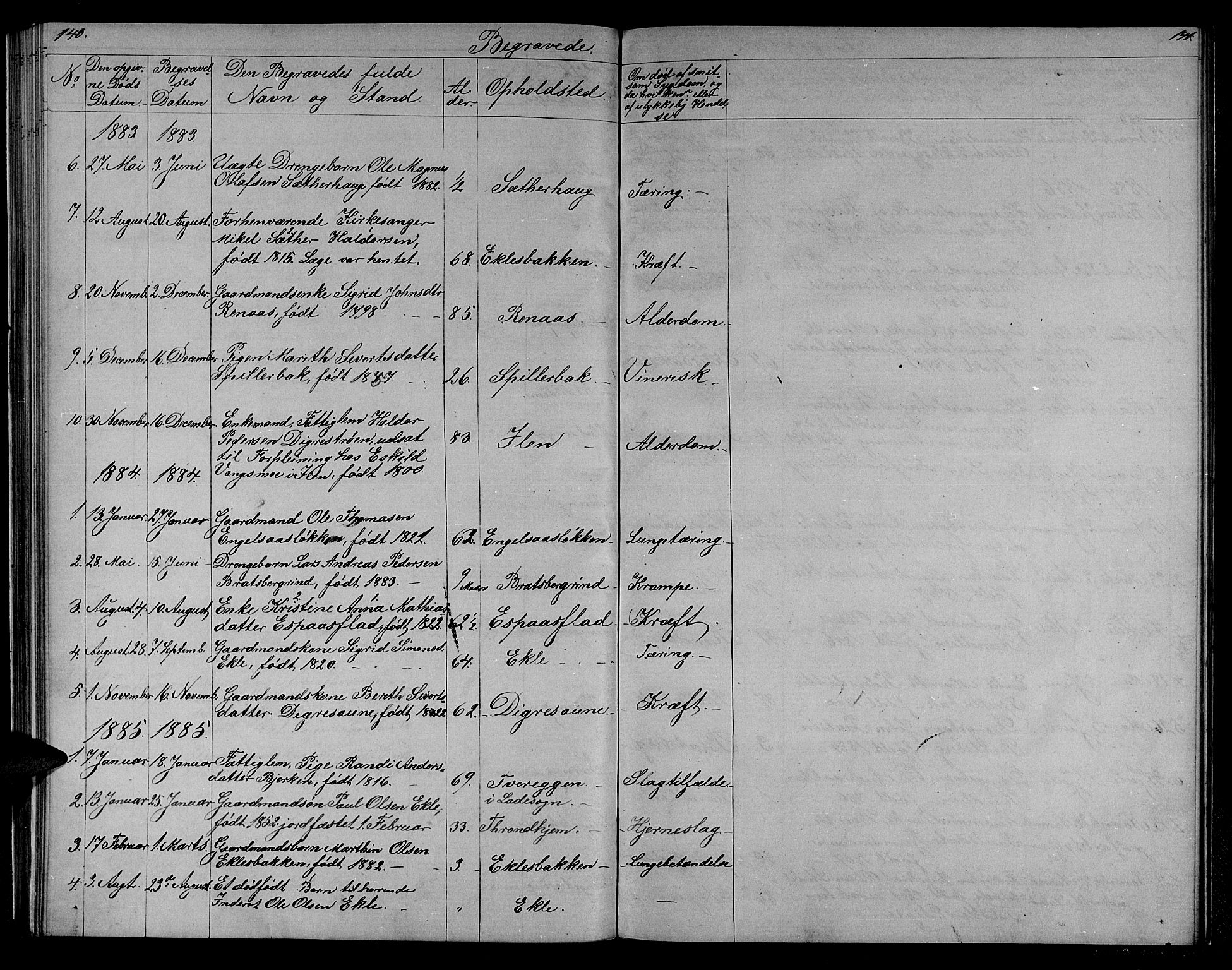SAT, Ministerialprotokoller, klokkerbøker og fødselsregistre - Sør-Trøndelag, 608/L0340: Klokkerbok nr. 608C06, 1864-1889, s. 140-141