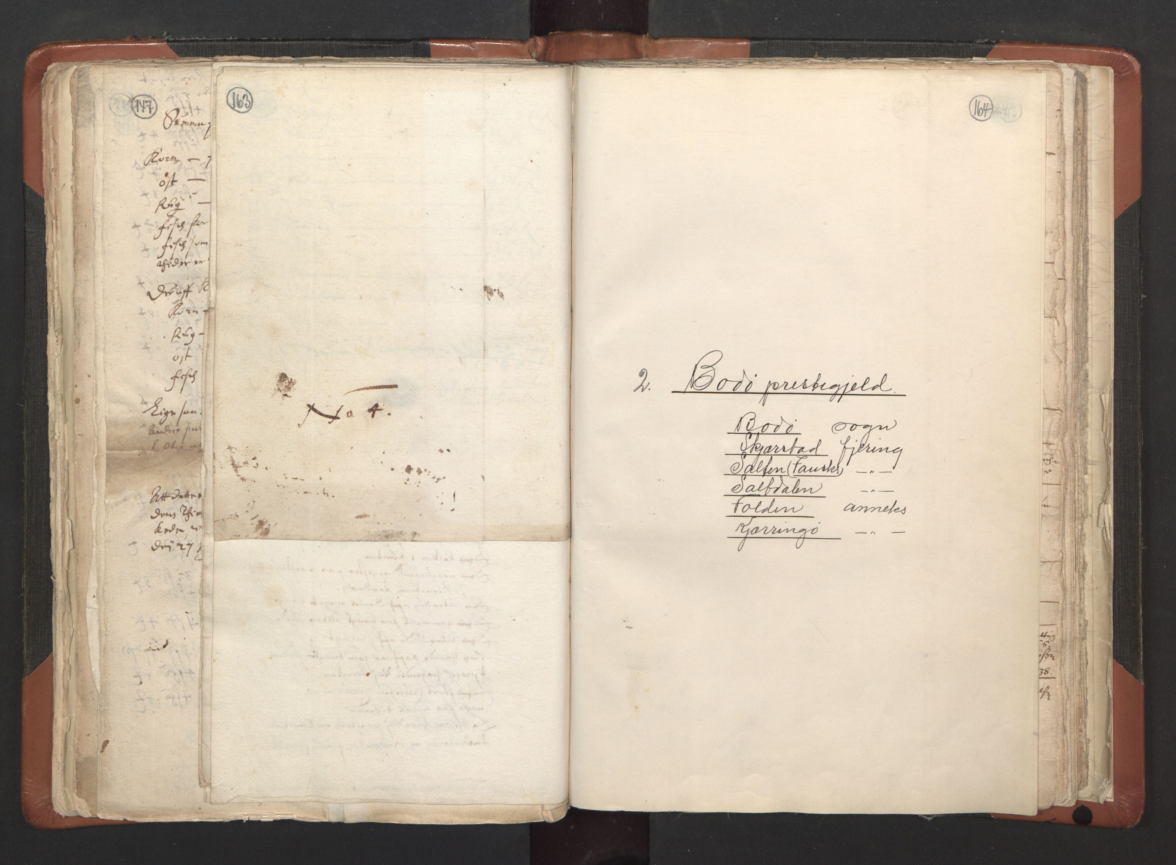 RA, Sogneprestenes manntall 1664-1666, nr. 35: Helgeland prosti og Salten prosti, 1664-1666, s. 163-164