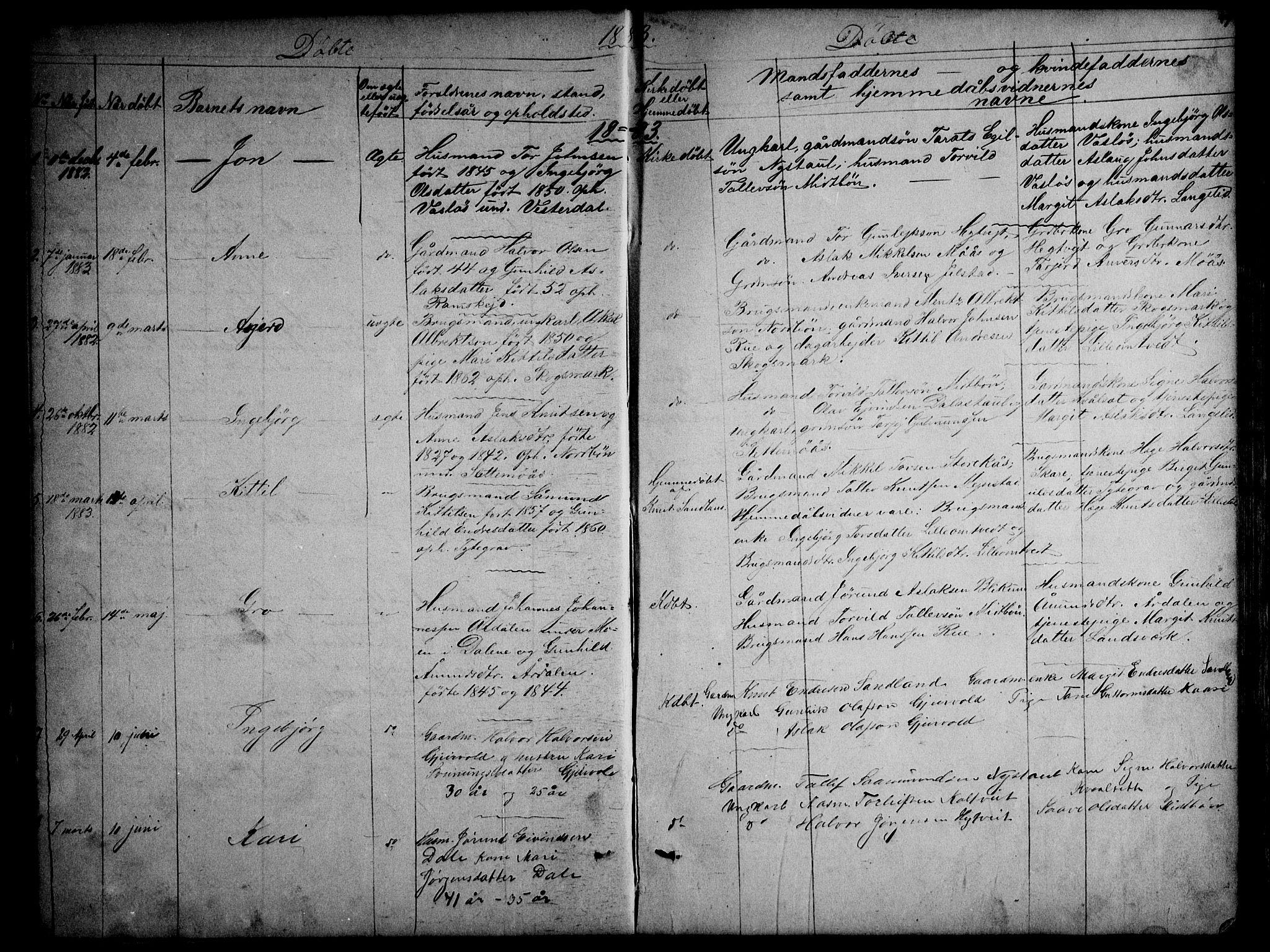 SAKO, Kviteseid kirkebøker, G/Gb/L0002: Klokkerbok nr. II 2, 1850-1892, s. 49