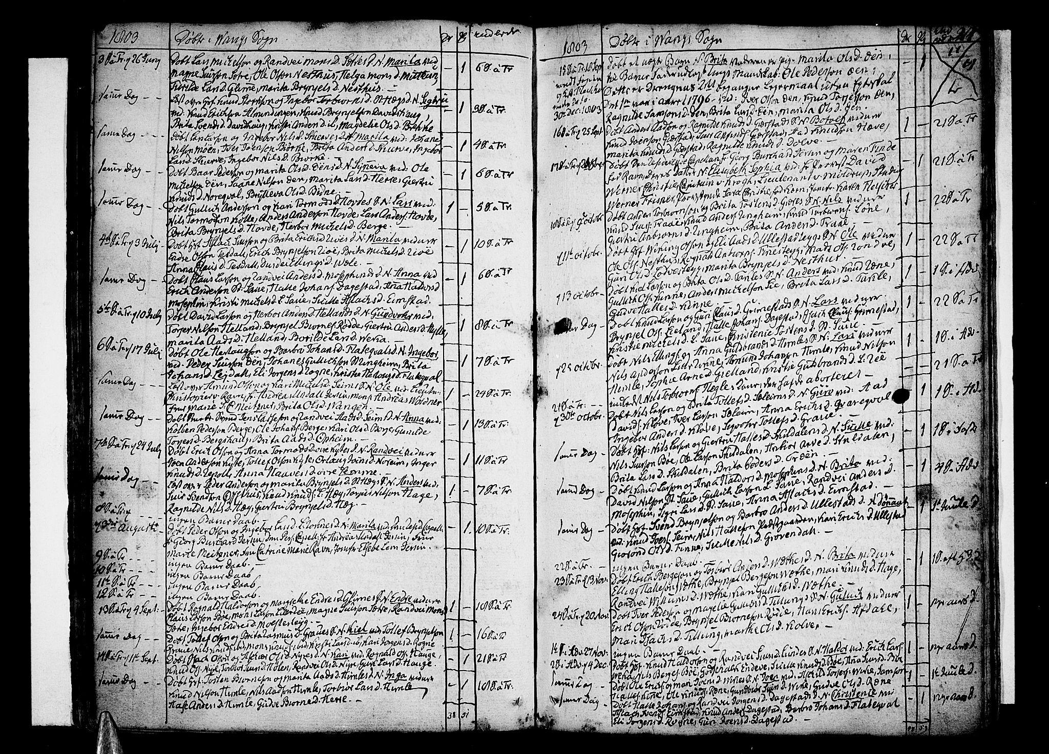 SAB, Voss Sokneprestembete, H/Haa: Ministerialbok nr. A 9, 1780-1810, s. 214