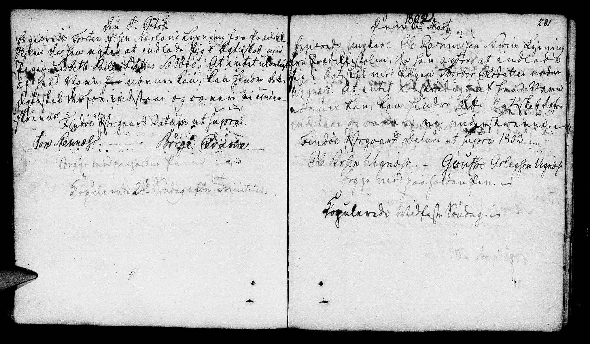 SAST, Finnøy sokneprestkontor, H/Ha/Haa/L0005: Ministerialbok nr. A 5, 1773-1816, s. 281
