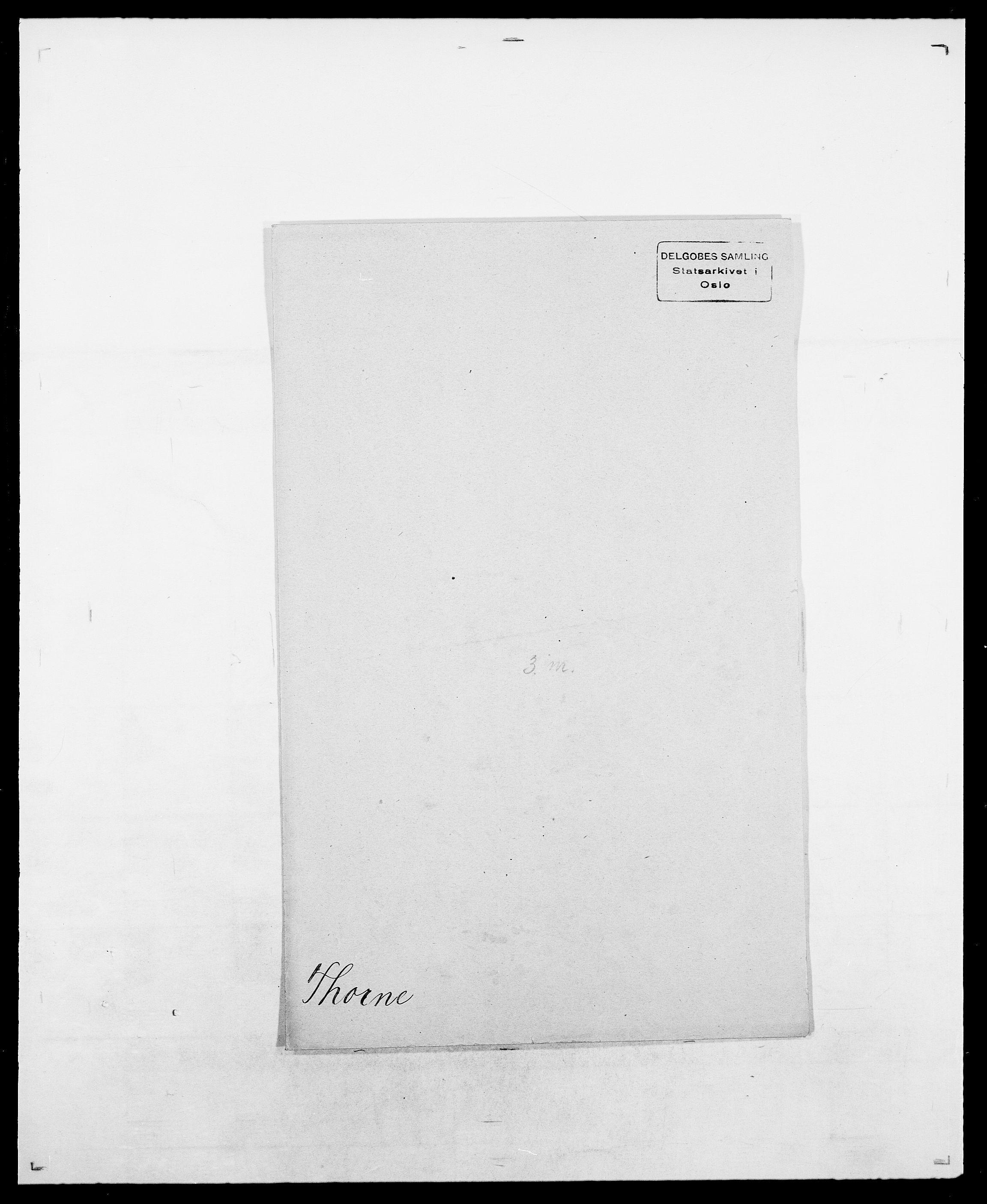 SAO, Delgobe, Charles Antoine - samling, D/Da/L0038: Svanenskjold - Thornsohn, s. 892