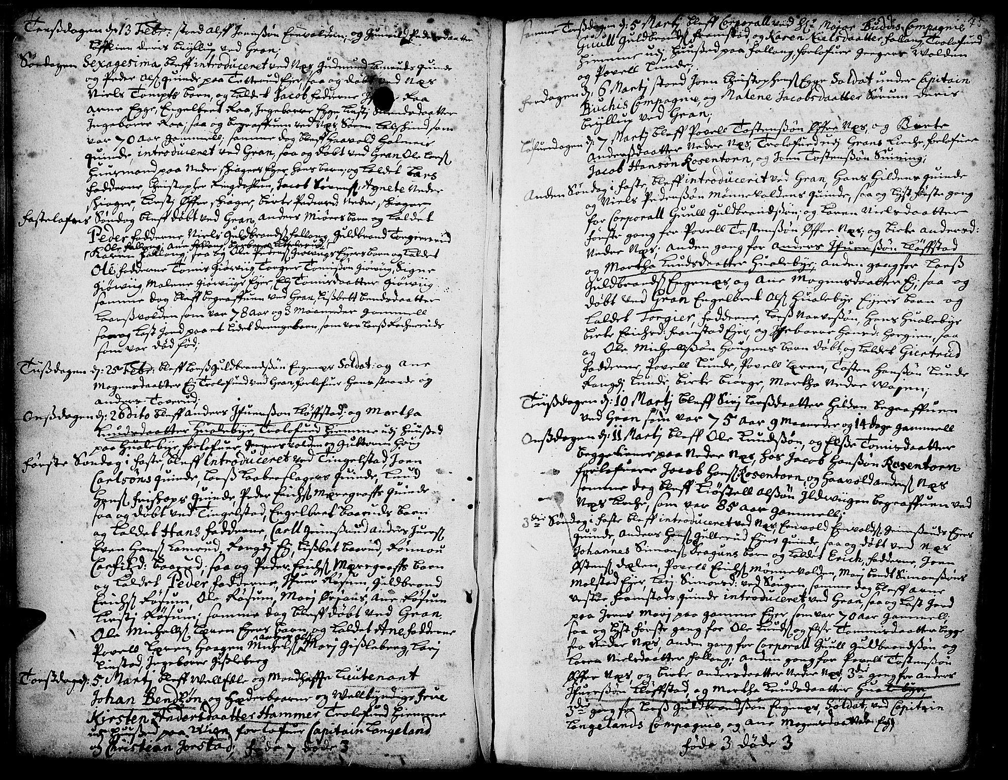 SAH, Gran prestekontor, Ministerialbok nr. 1, 1707-1731, s. 75