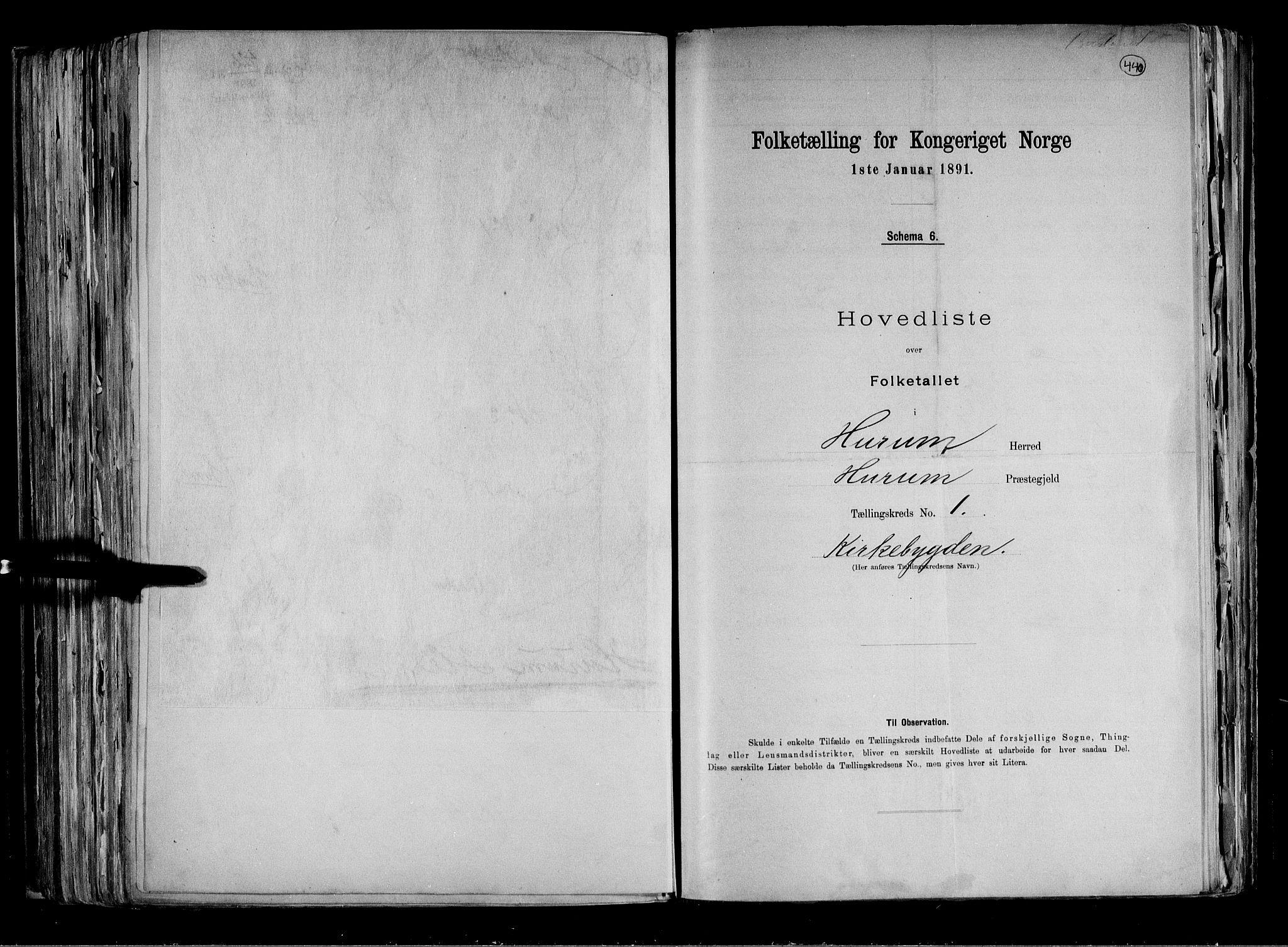 RA, Folketelling 1891 for 0628 Hurum herred, 1891, s. 5