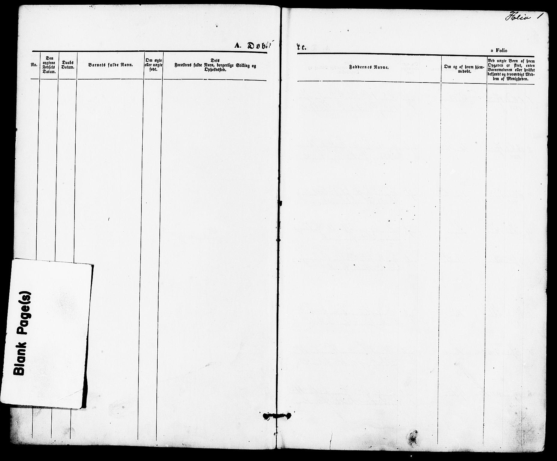 SAST, Suldal sokneprestkontor, IV/L0010: Ministerialbok nr. A 10, 1869-1878, s. 1