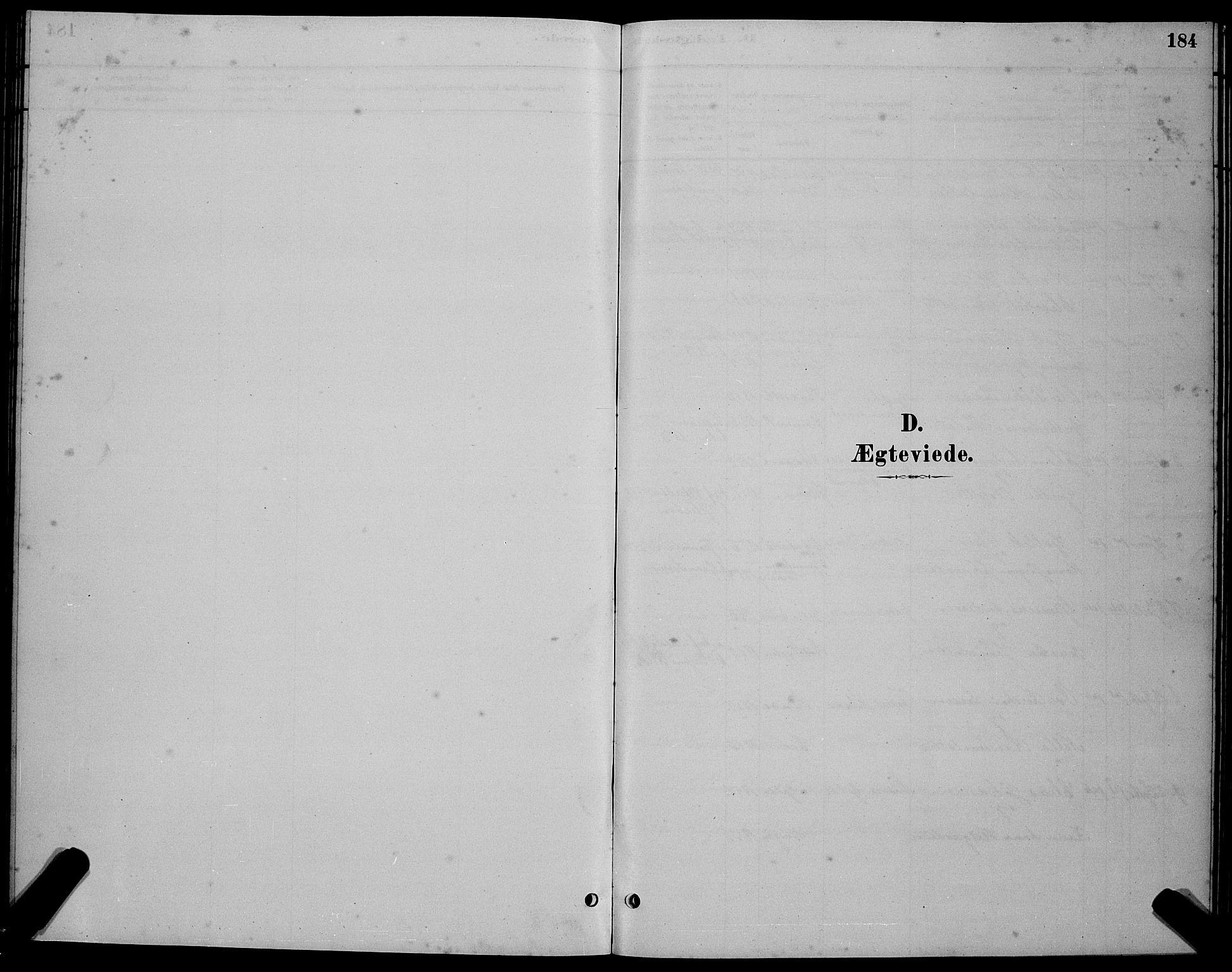 SAT, Ministerialprotokoller, klokkerbøker og fødselsregistre - Sør-Trøndelag, 655/L0687: Klokkerbok nr. 655C03, 1880-1898, s. 184