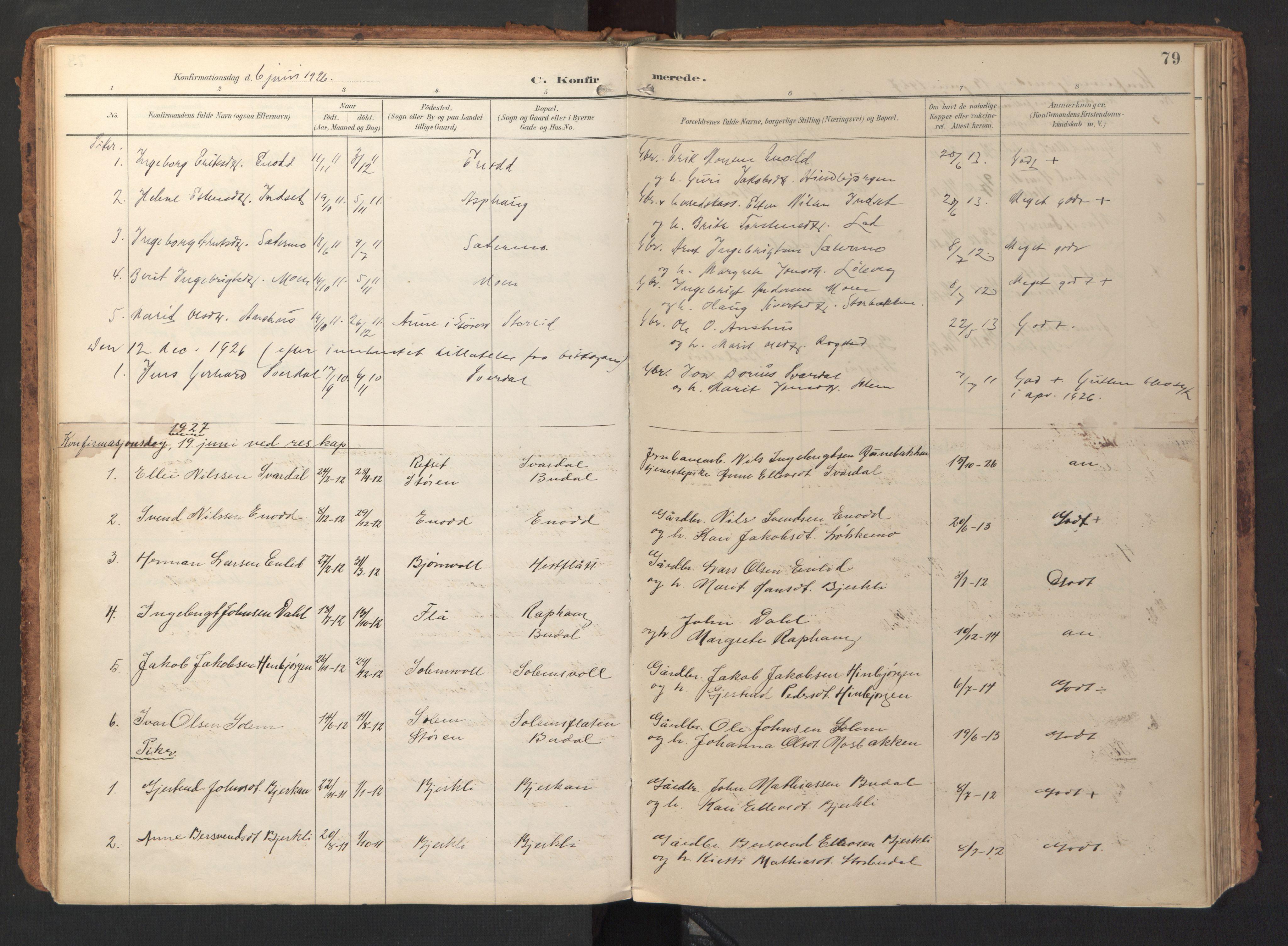 SAT, Ministerialprotokoller, klokkerbøker og fødselsregistre - Sør-Trøndelag, 690/L1050: Ministerialbok nr. 690A01, 1889-1929, s. 79