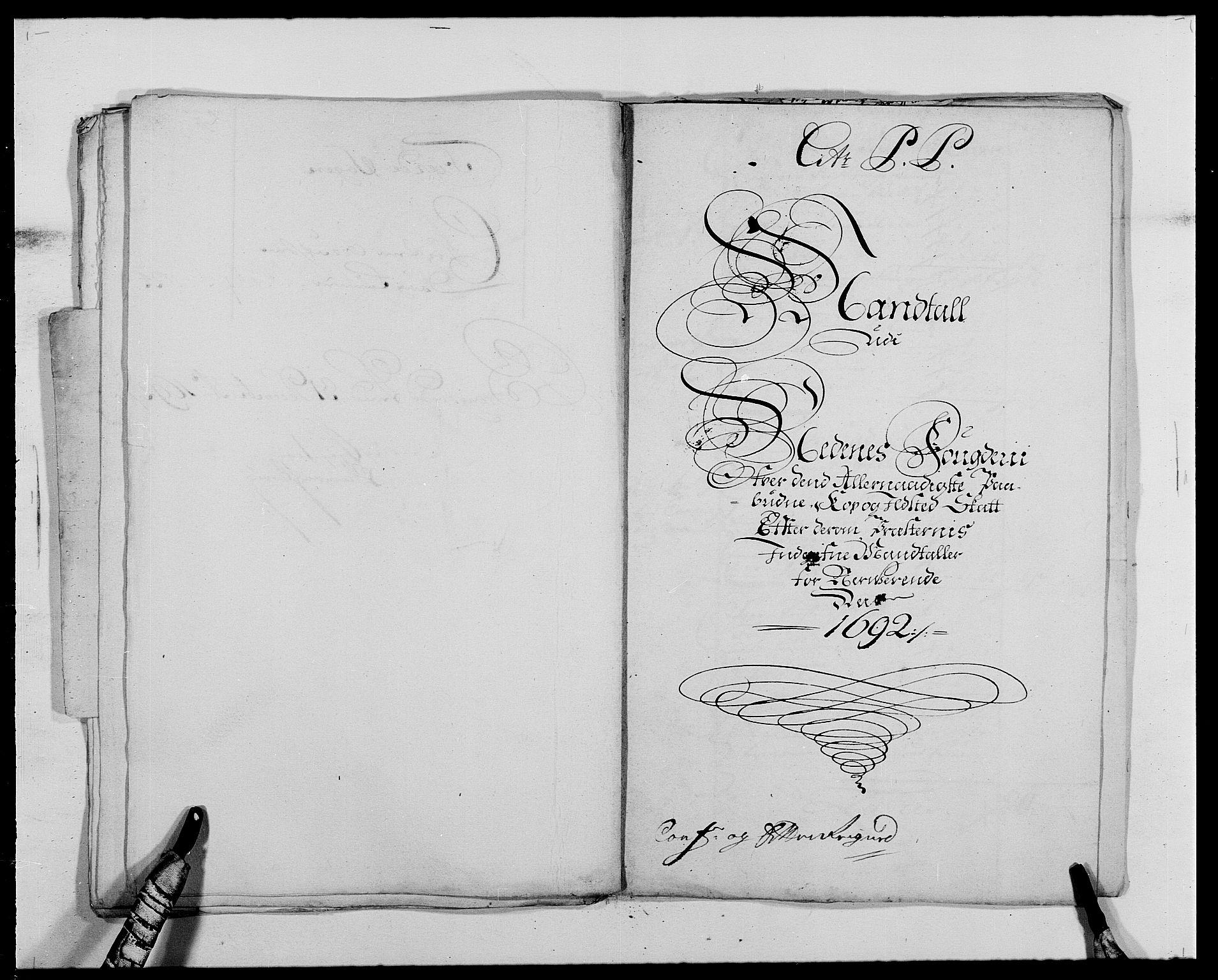 RA, Rentekammeret inntil 1814, Reviderte regnskaper, Fogderegnskap, R39/L2311: Fogderegnskap Nedenes, 1690-1692, s. 254