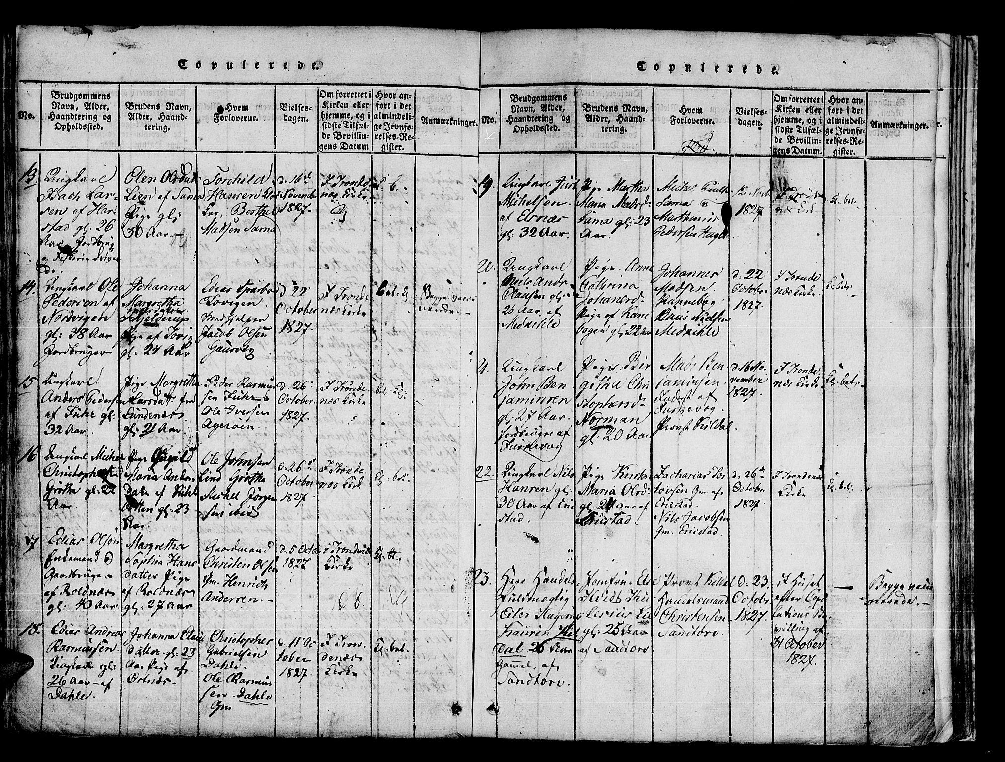 SATØ, Trondenes sokneprestkontor, H/Ha/L0006kirke: Ministerialbok nr. 6, 1821-1827