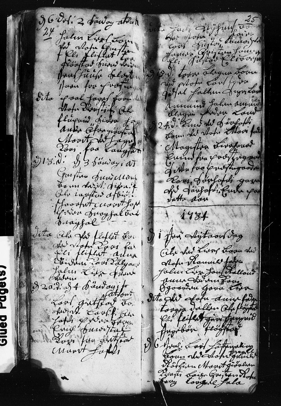SAH, Fåberg prestekontor, Klokkerbok nr. 1, 1727-1767, s. 24-25