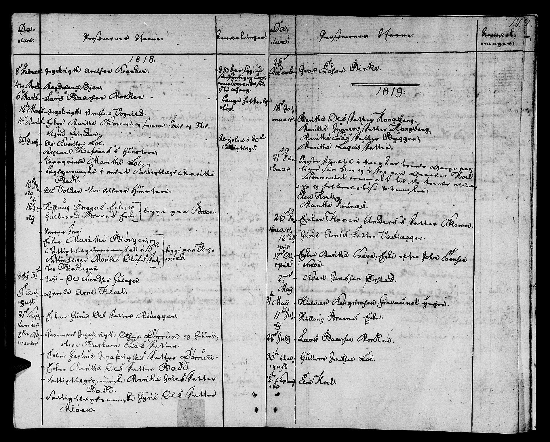 SAT, Ministerialprotokoller, klokkerbøker og fødselsregistre - Sør-Trøndelag, 678/L0894: Ministerialbok nr. 678A04, 1806-1815, s. 181
