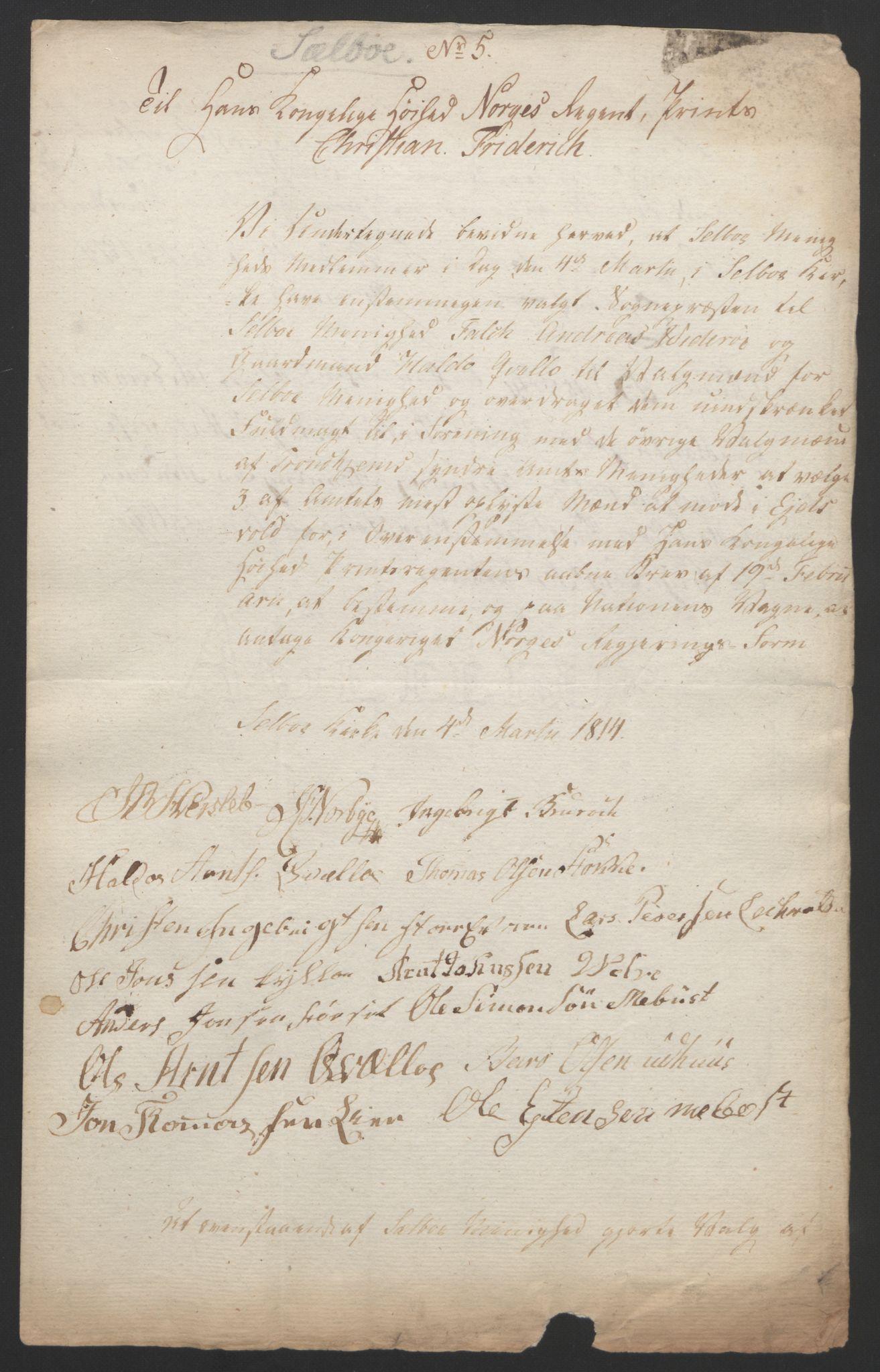 RA, Statsrådssekretariatet, D/Db/L0008: Fullmakter for Eidsvollsrepresentantene i 1814. , 1814, s. 451