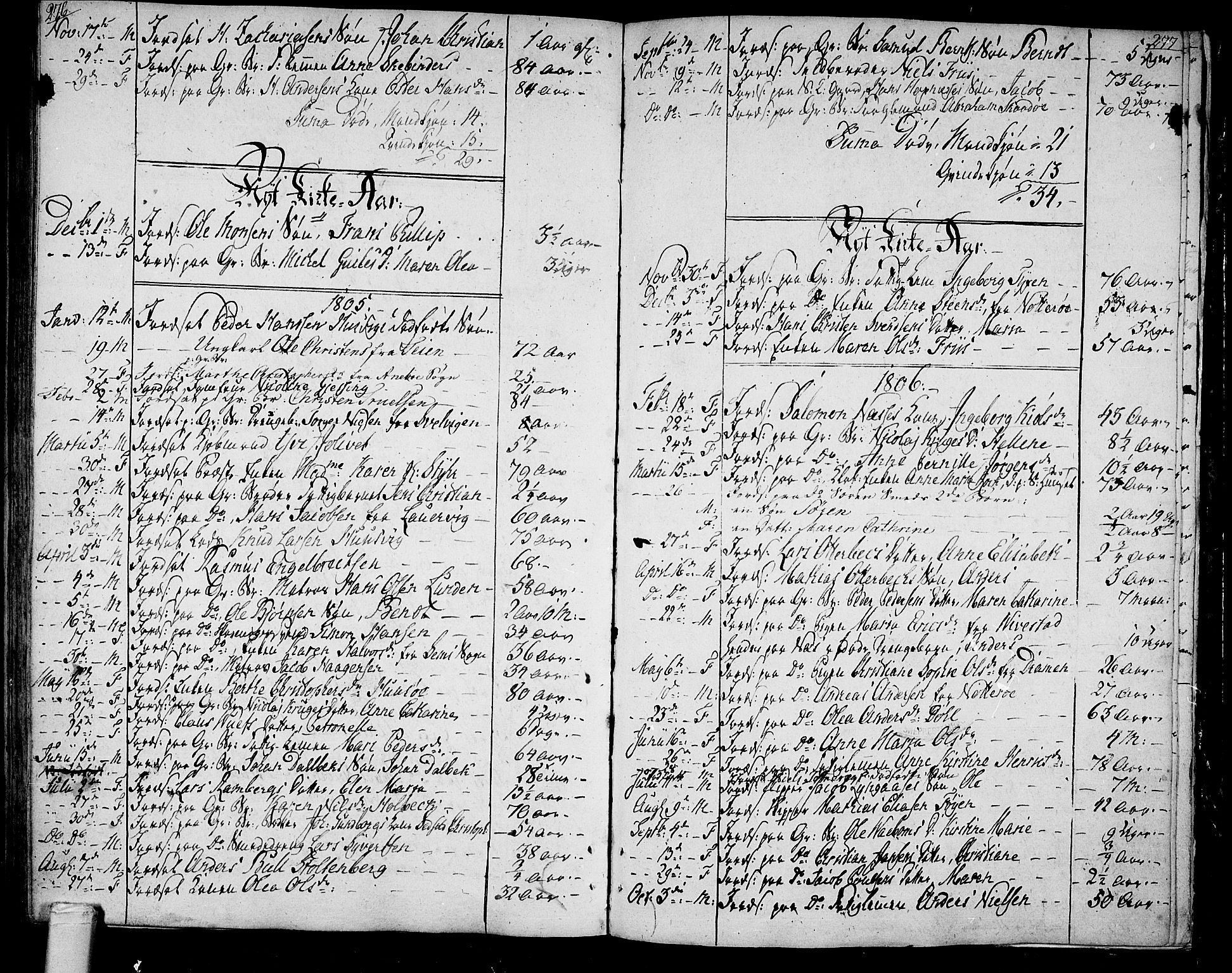 SAKO, Tønsberg kirkebøker, F/Fa/L0003: Ministerialbok nr. I 3, 1797-1814, s. 276-277