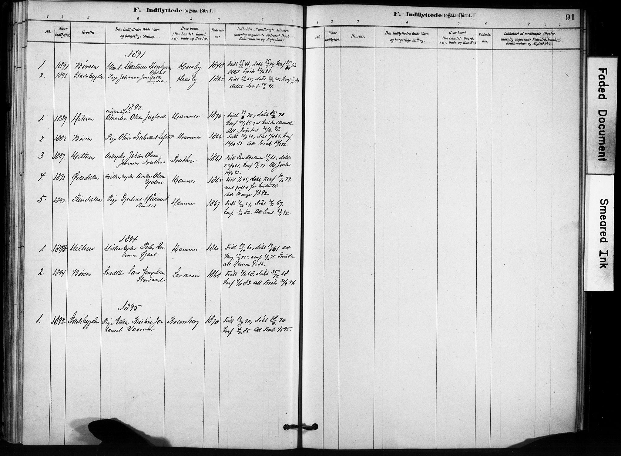 SAT, Ministerialprotokoller, klokkerbøker og fødselsregistre - Sør-Trøndelag, 666/L0786: Ministerialbok nr. 666A04, 1878-1895, s. 91