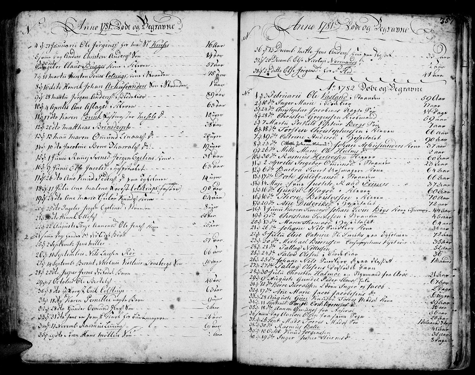 SAK, Arendal sokneprestkontor, Trefoldighet, F/Fa/L0001: Ministerialbok nr. A 1, 1703-1815, s. 441