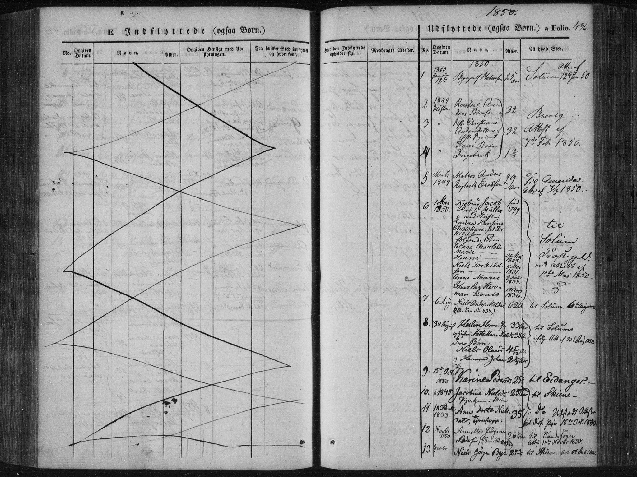 SAKO, Porsgrunn kirkebøker , F/Fa/L0006: Ministerialbok nr. 6, 1841-1857, s. 436