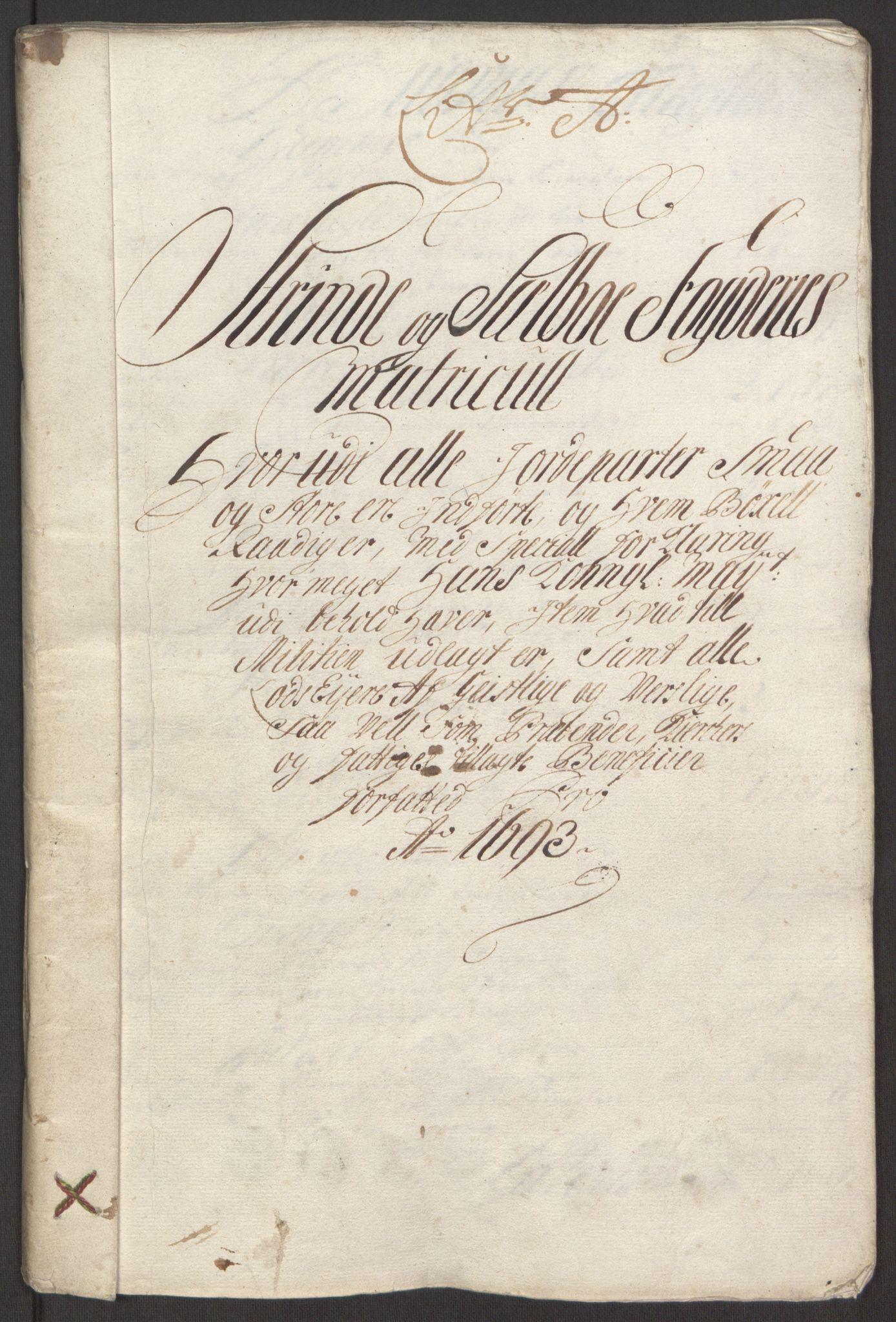 RA, Rentekammeret inntil 1814, Reviderte regnskaper, Fogderegnskap, R61/L4104: Fogderegnskap Strinda og Selbu, 1693-1694, s. 21