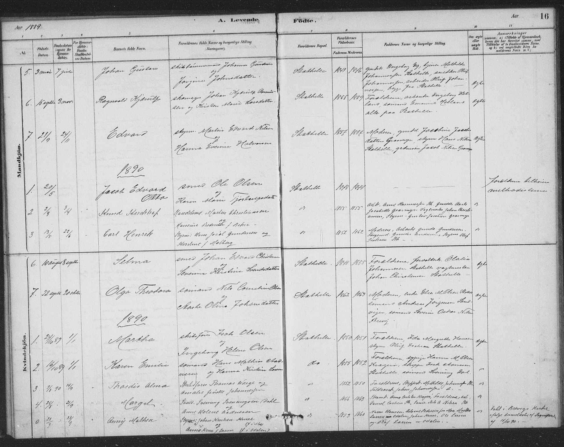 SAKO, Bamble kirkebøker, F/Fb/L0001: Ministerialbok nr. II 1, 1878-1899, s. 16