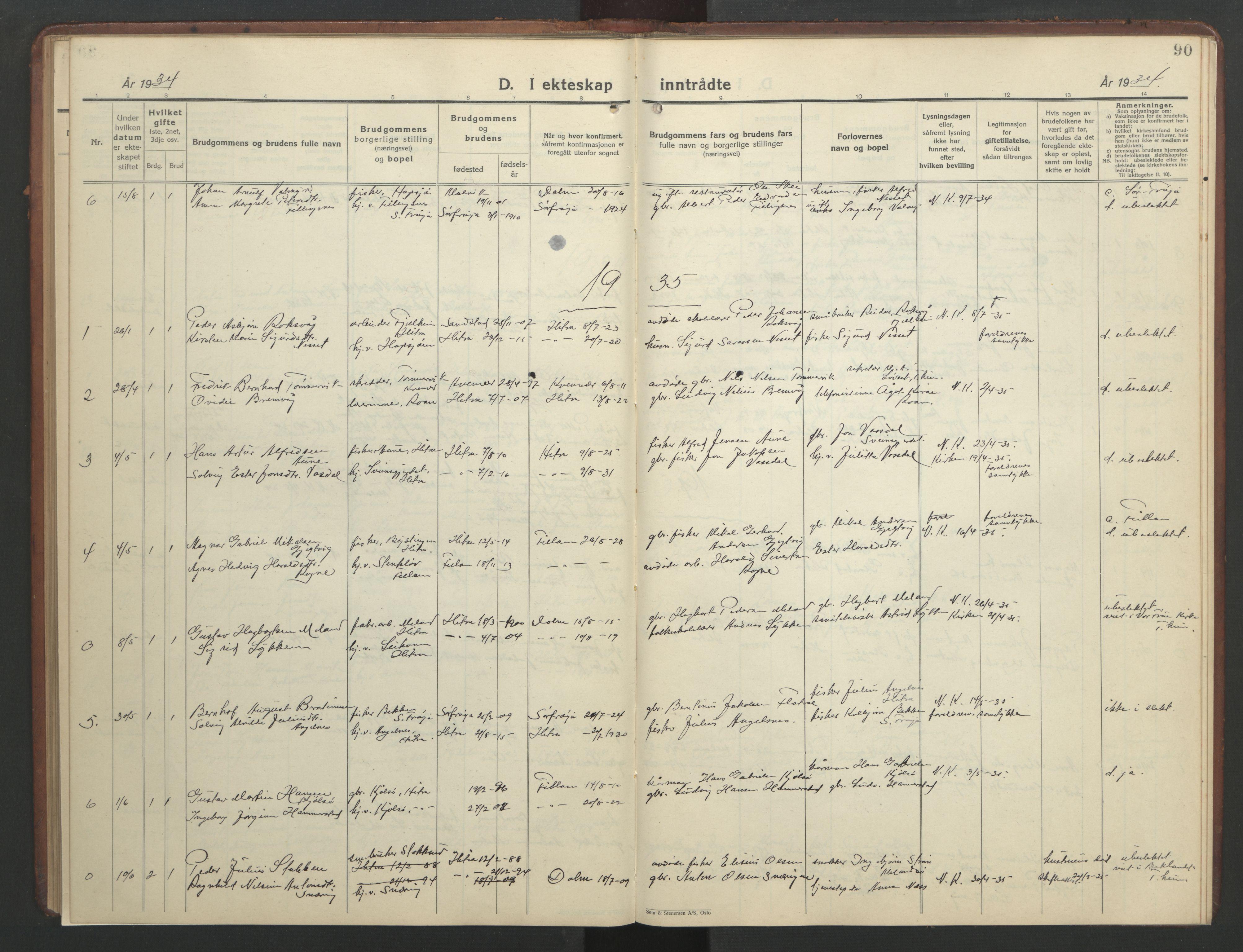 SAT, Ministerialprotokoller, klokkerbøker og fødselsregistre - Sør-Trøndelag, 634/L0544: Klokkerbok nr. 634C06, 1927-1948, s. 90