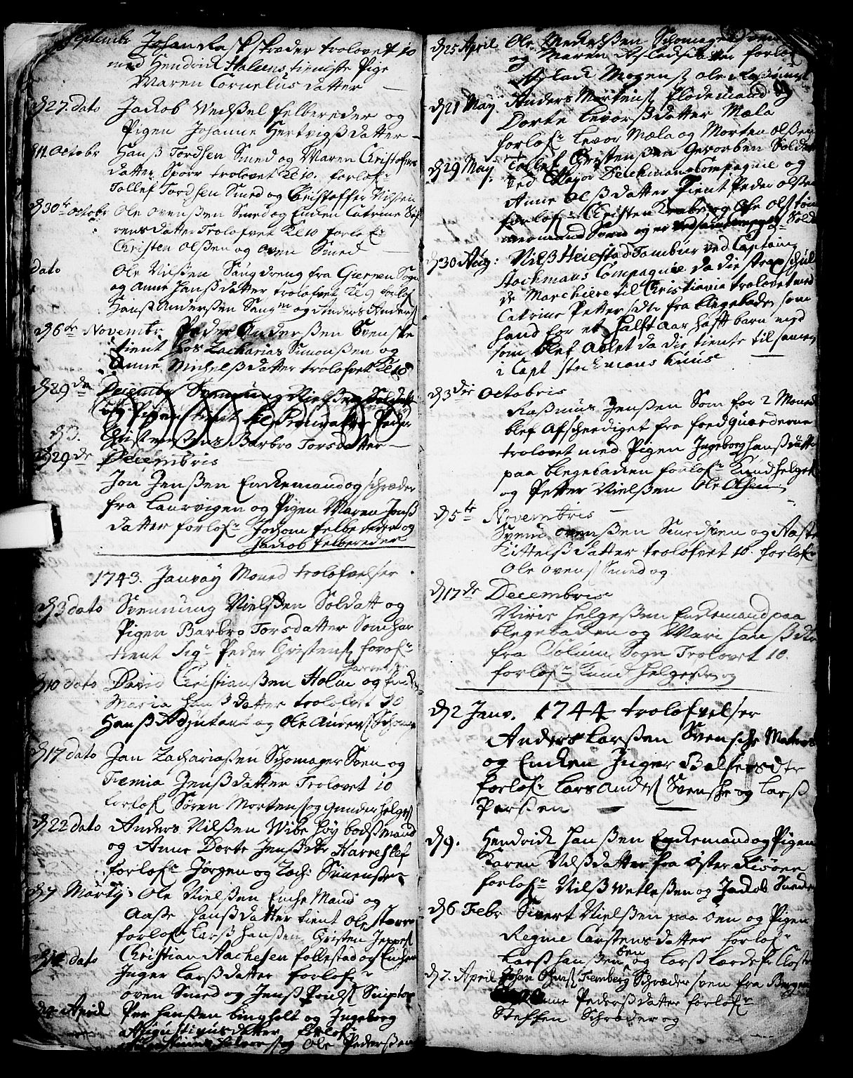 SAKO, Skien kirkebøker, F/Fa/L0002: Ministerialbok nr. 2, 1716-1757, s. 15