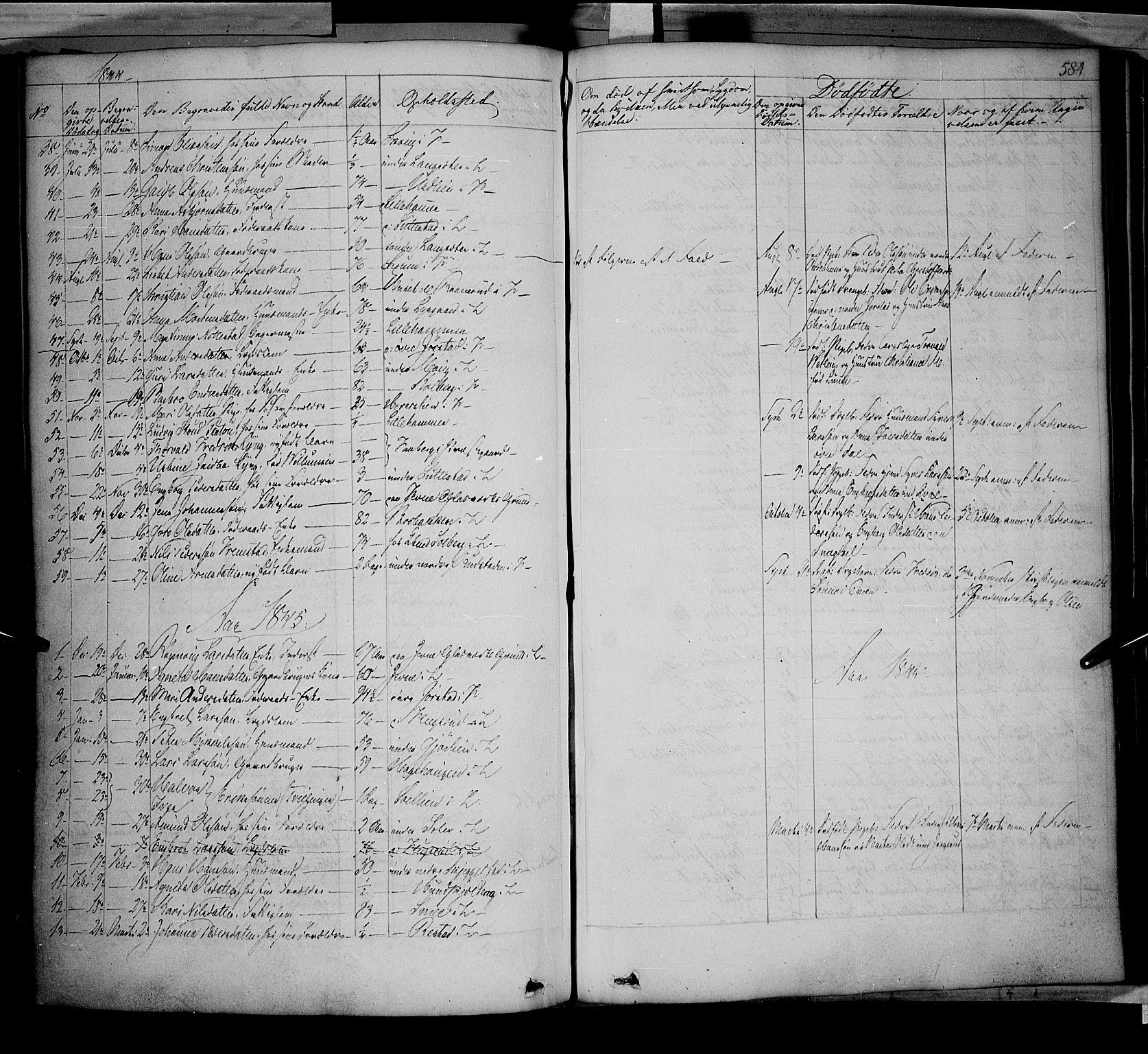 SAH, Fåberg prestekontor, Ministerialbok nr. 5, 1836-1854, s. 583-584