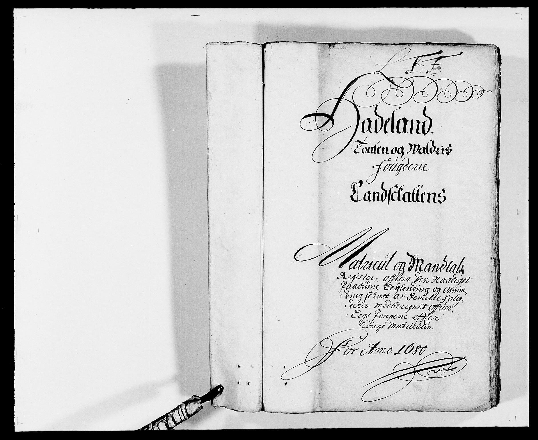 RA, Rentekammeret inntil 1814, Reviderte regnskaper, Fogderegnskap, R18/L1276: Fogderegnskap Hadeland, Toten og Valdres, 1680, s. 1