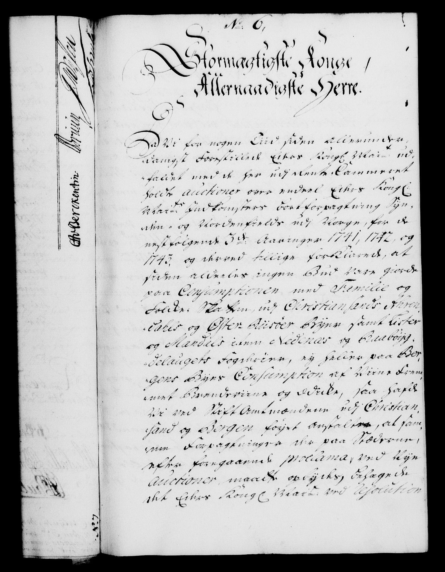 RA, Rentekammeret, Kammerkanselliet, G/Gf/Gfa/L0024: Norsk relasjons- og resolusjonsprotokoll (merket RK 52.24), 1741, s. 46
