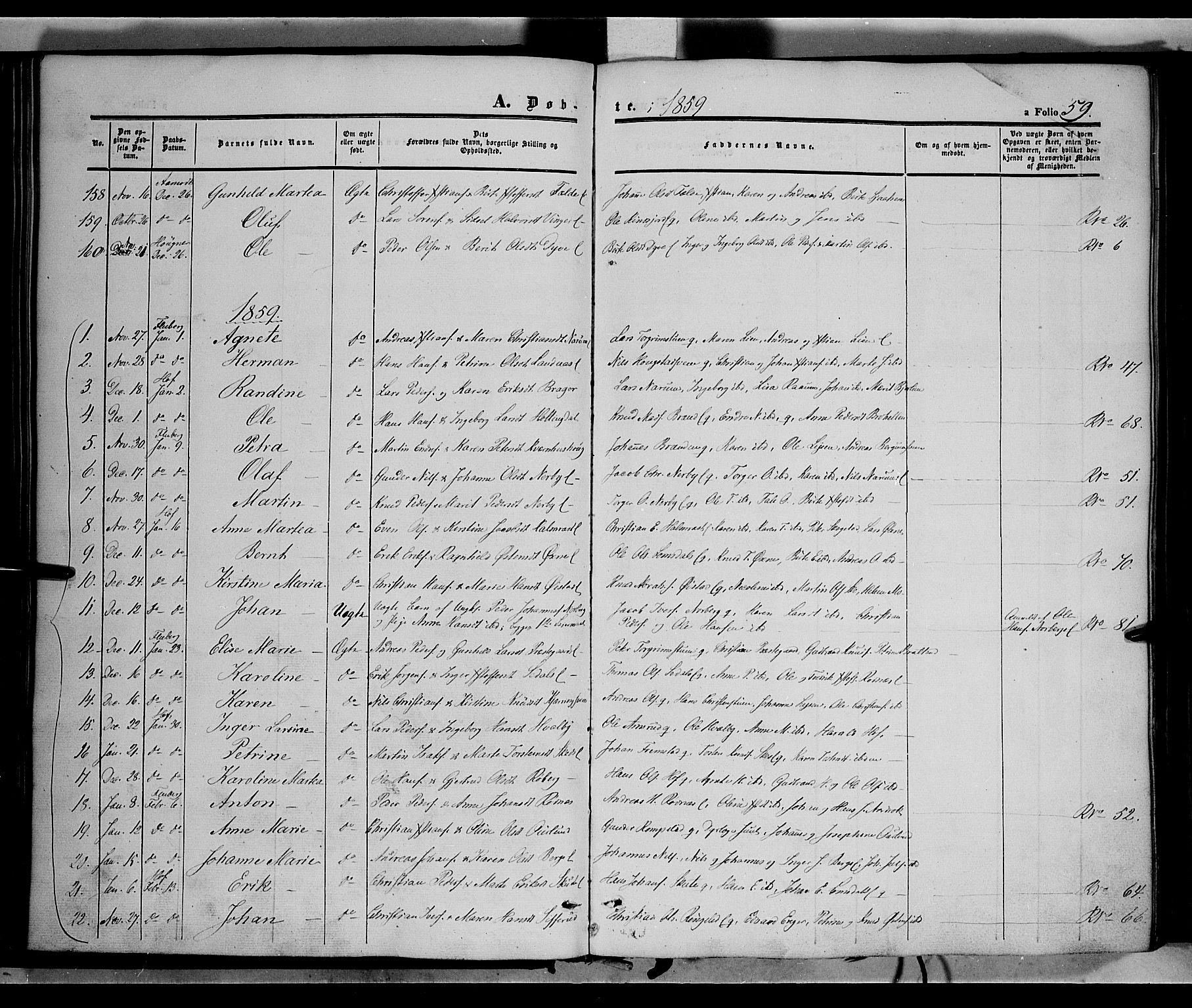 SAH, Land prestekontor, Ministerialbok nr. 10, 1847-1859, s. 59