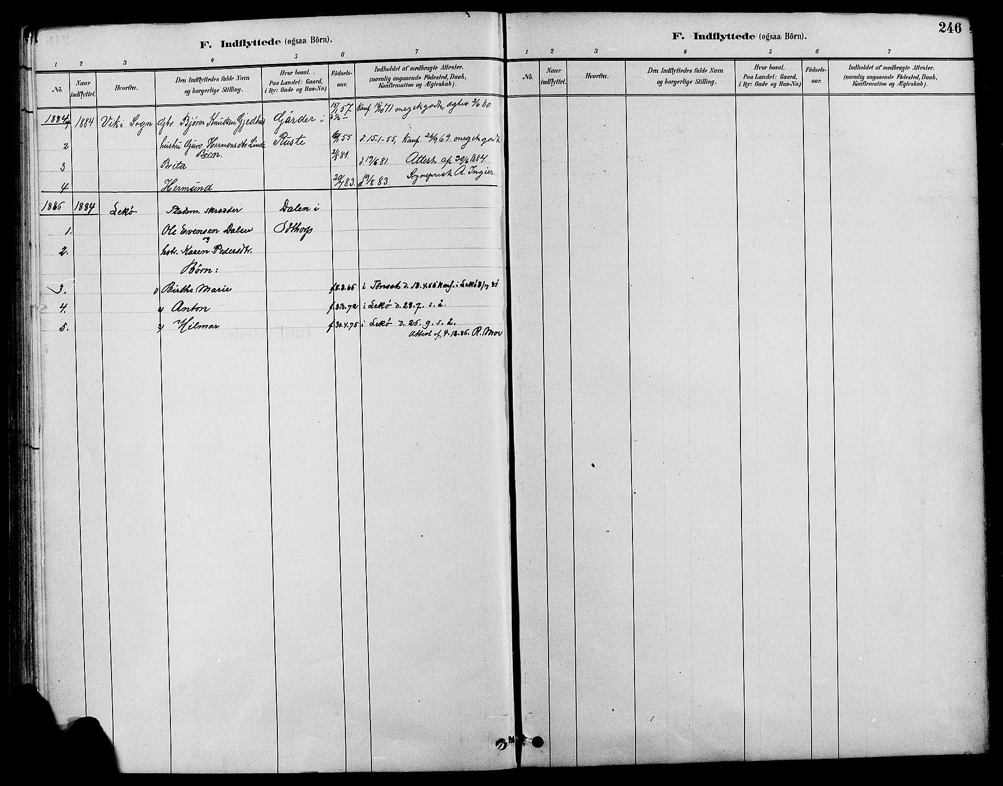 SAH, Nord-Fron prestekontor, Klokkerbok nr. 4, 1884-1914, s. 246