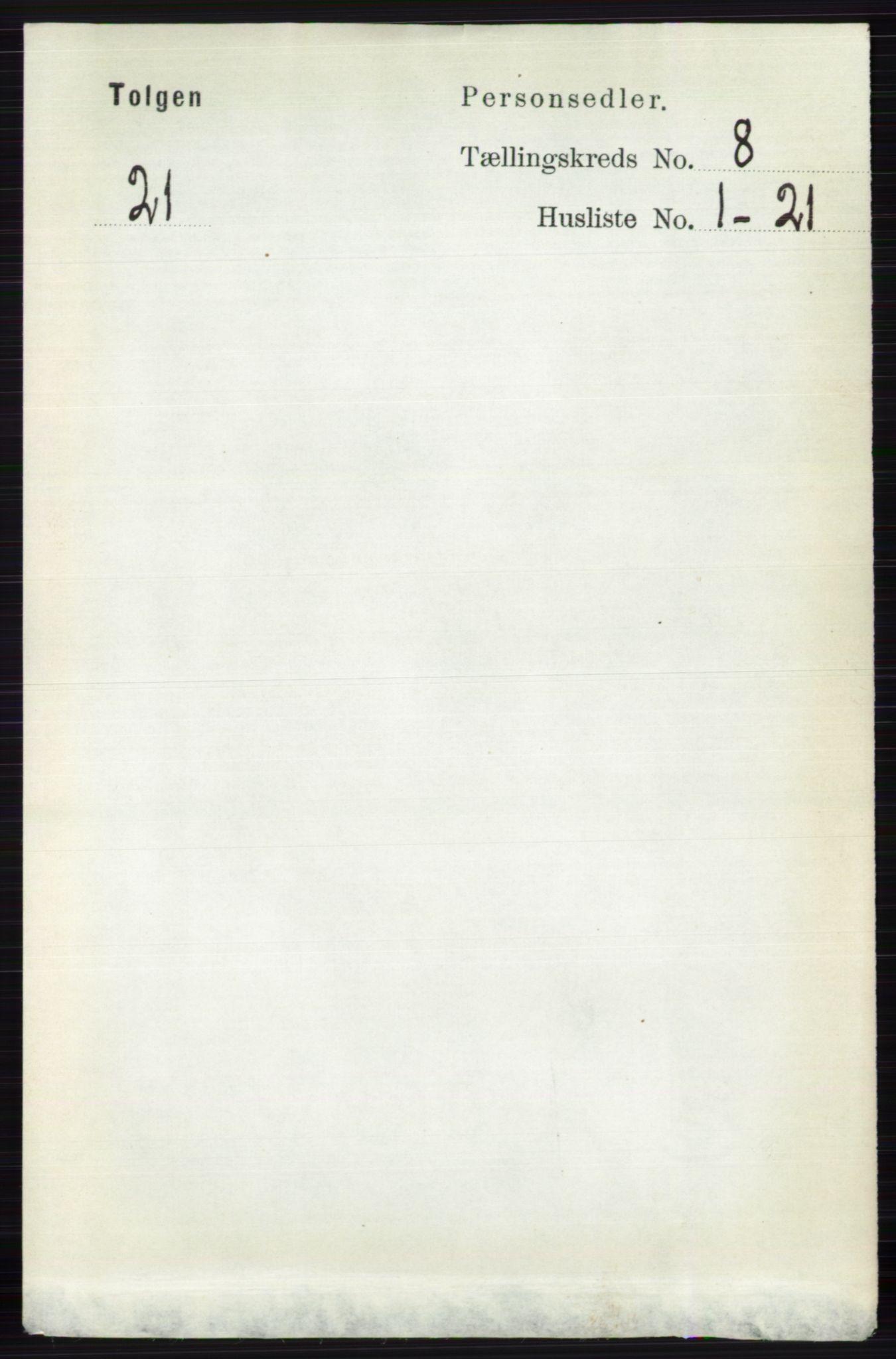 RA, Folketelling 1891 for 0436 Tolga herred, 1891, s. 2361