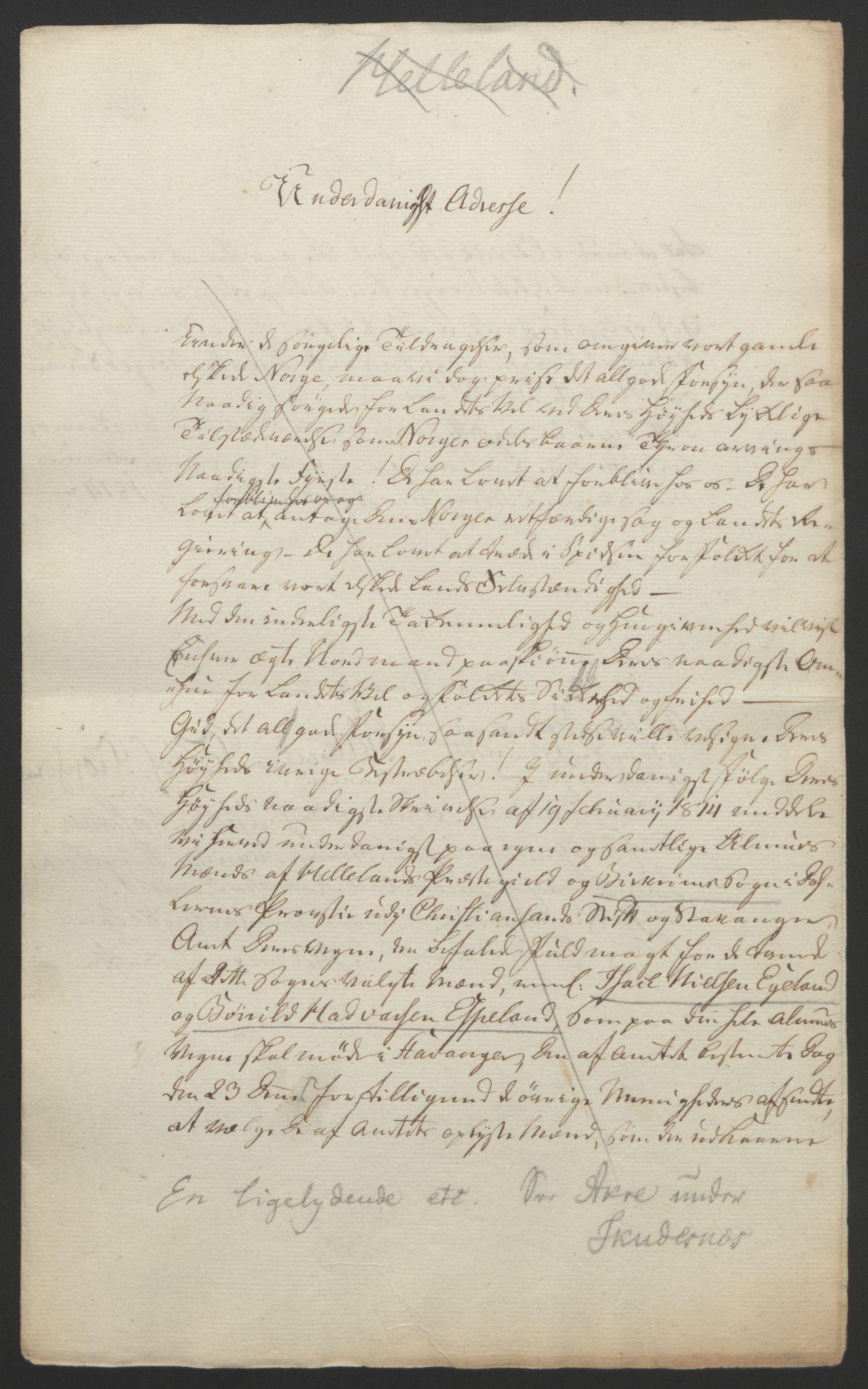 RA, Statsrådssekretariatet, D/Db/L0008: Fullmakter for Eidsvollsrepresentantene i 1814. , 1814, s. 225