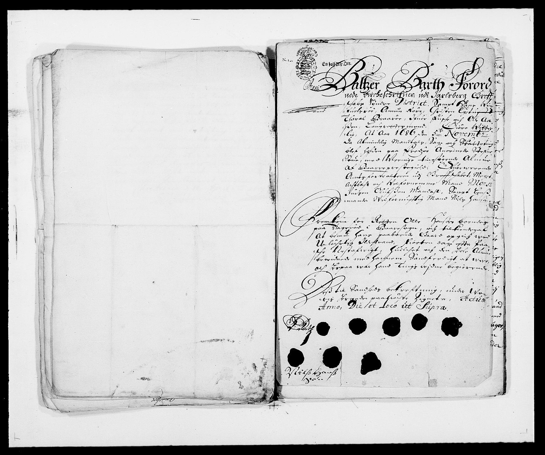 RA, Rentekammeret inntil 1814, Reviderte regnskaper, Fogderegnskap, R32/L1857: Fogderegnskap Jarlsberg grevskap, 1686-1690, s. 513