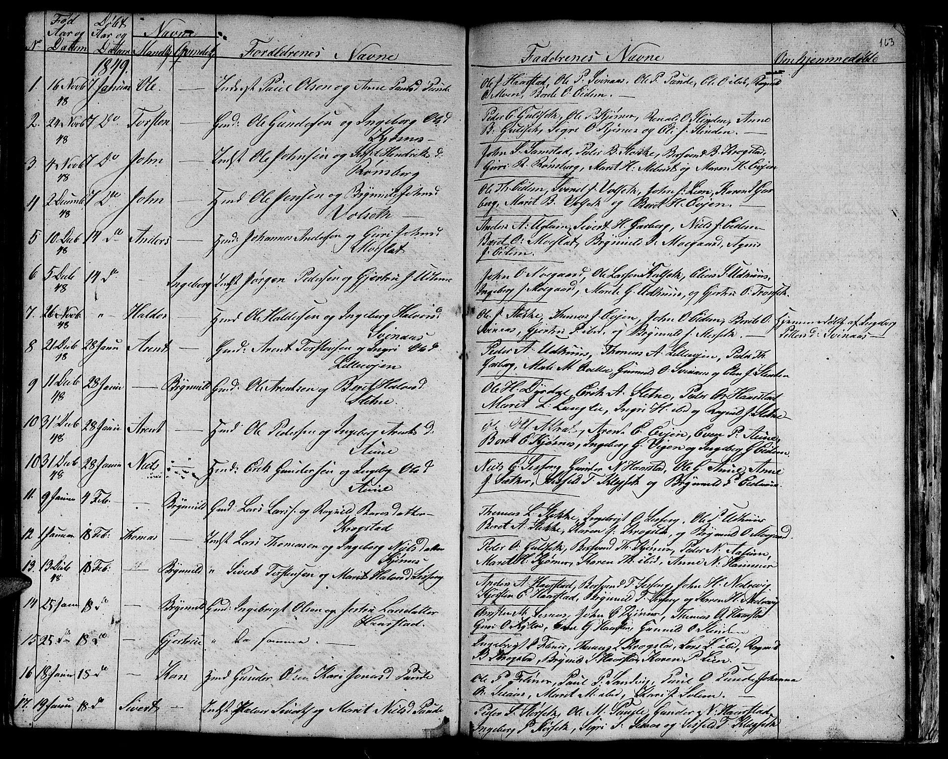 SAT, Ministerialprotokoller, klokkerbøker og fødselsregistre - Sør-Trøndelag, 695/L1154: Klokkerbok nr. 695C05, 1842-1858, s. 163