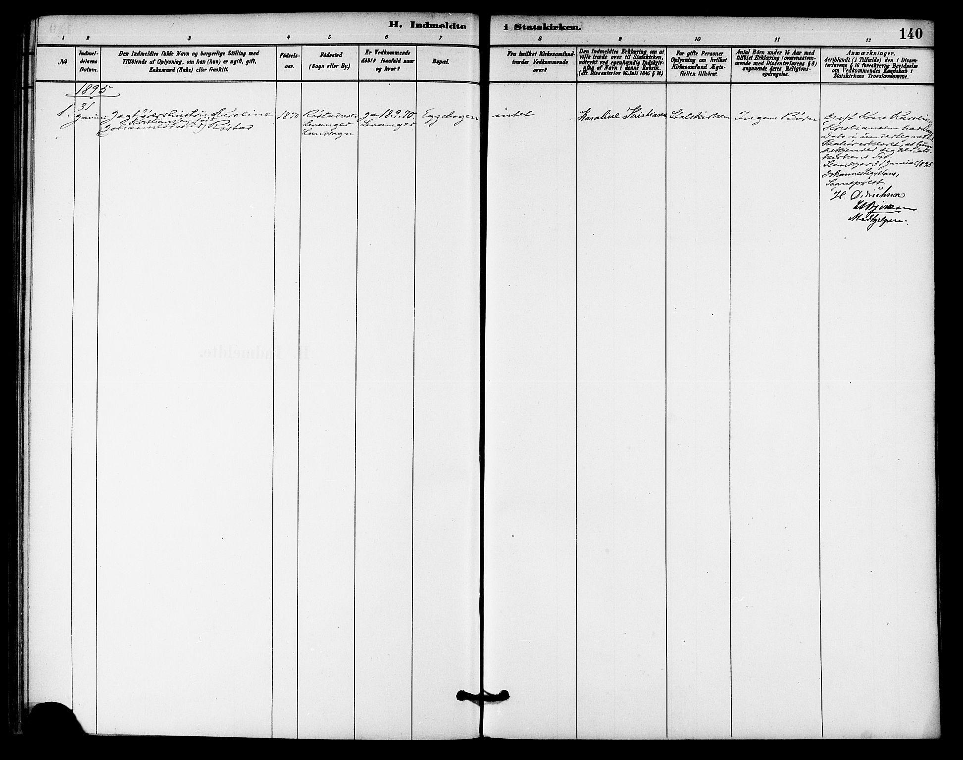 SAT, Ministerialprotokoller, klokkerbøker og fødselsregistre - Nord-Trøndelag, 740/L0378: Ministerialbok nr. 740A01, 1881-1895, s. 140