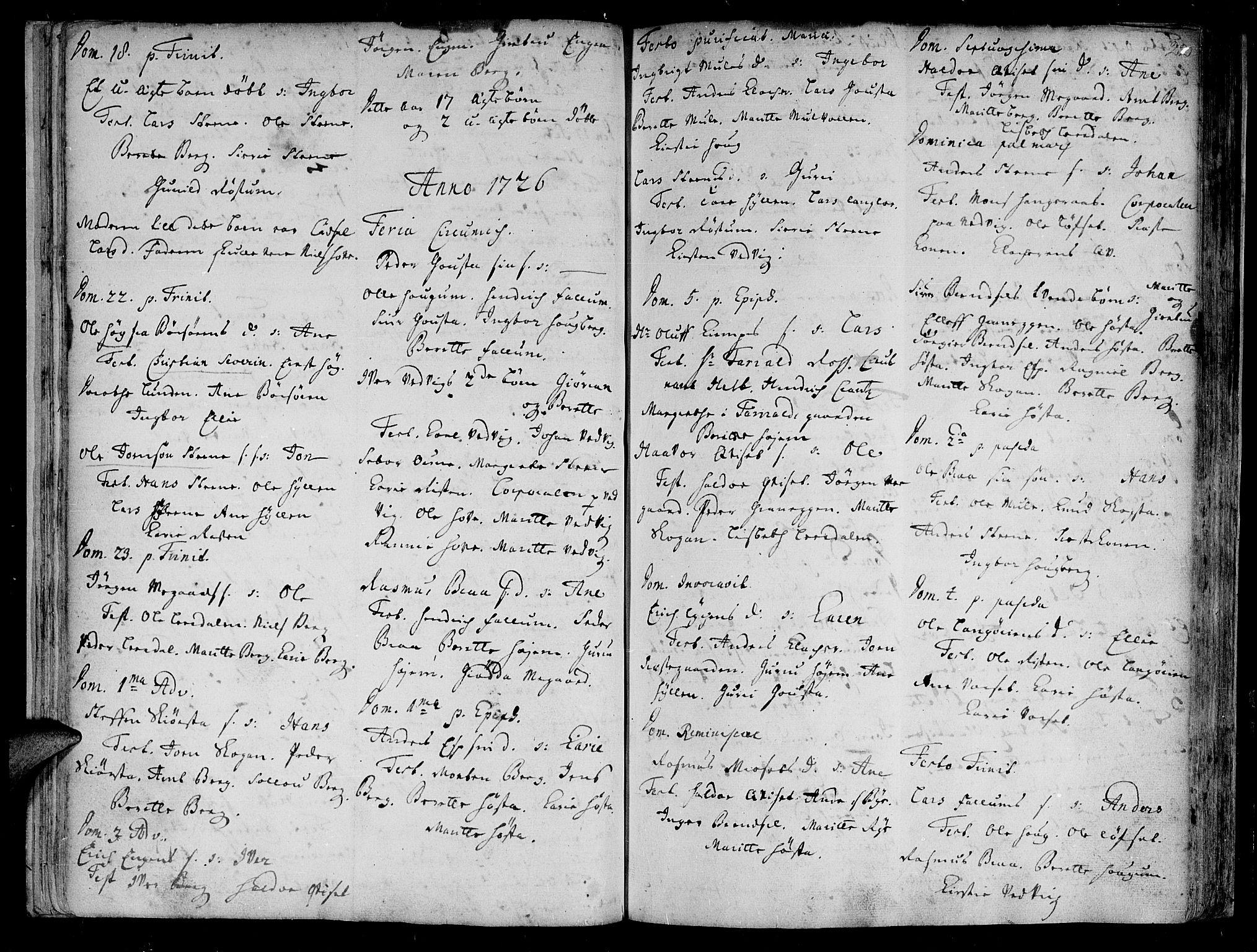 SAT, Ministerialprotokoller, klokkerbøker og fødselsregistre - Sør-Trøndelag, 612/L0368: Ministerialbok nr. 612A02, 1702-1753, s. 22