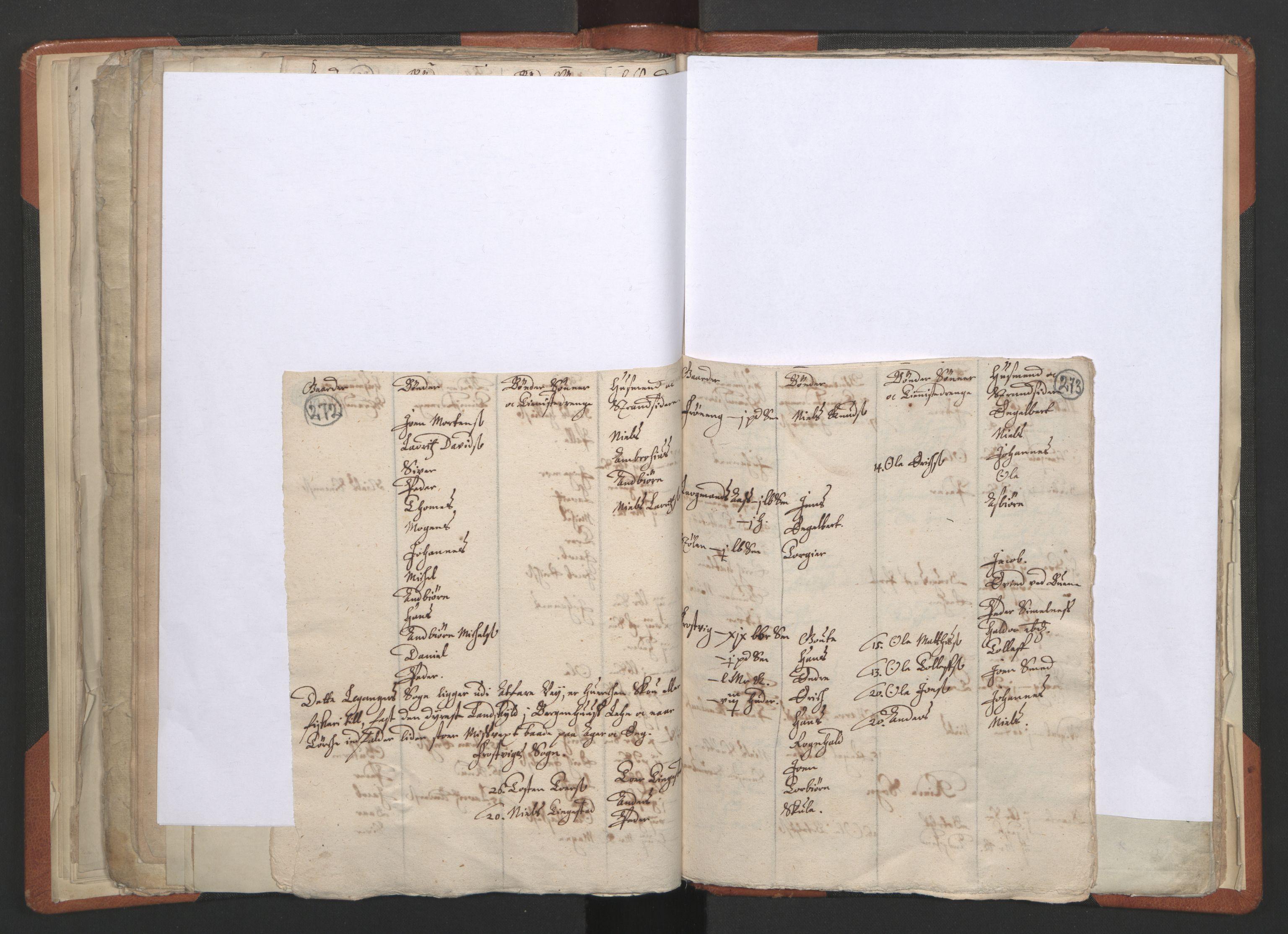 RA, Sogneprestenes manntall 1664-1666, nr. 23: Sogn prosti, 1664-1666, s. 272-273