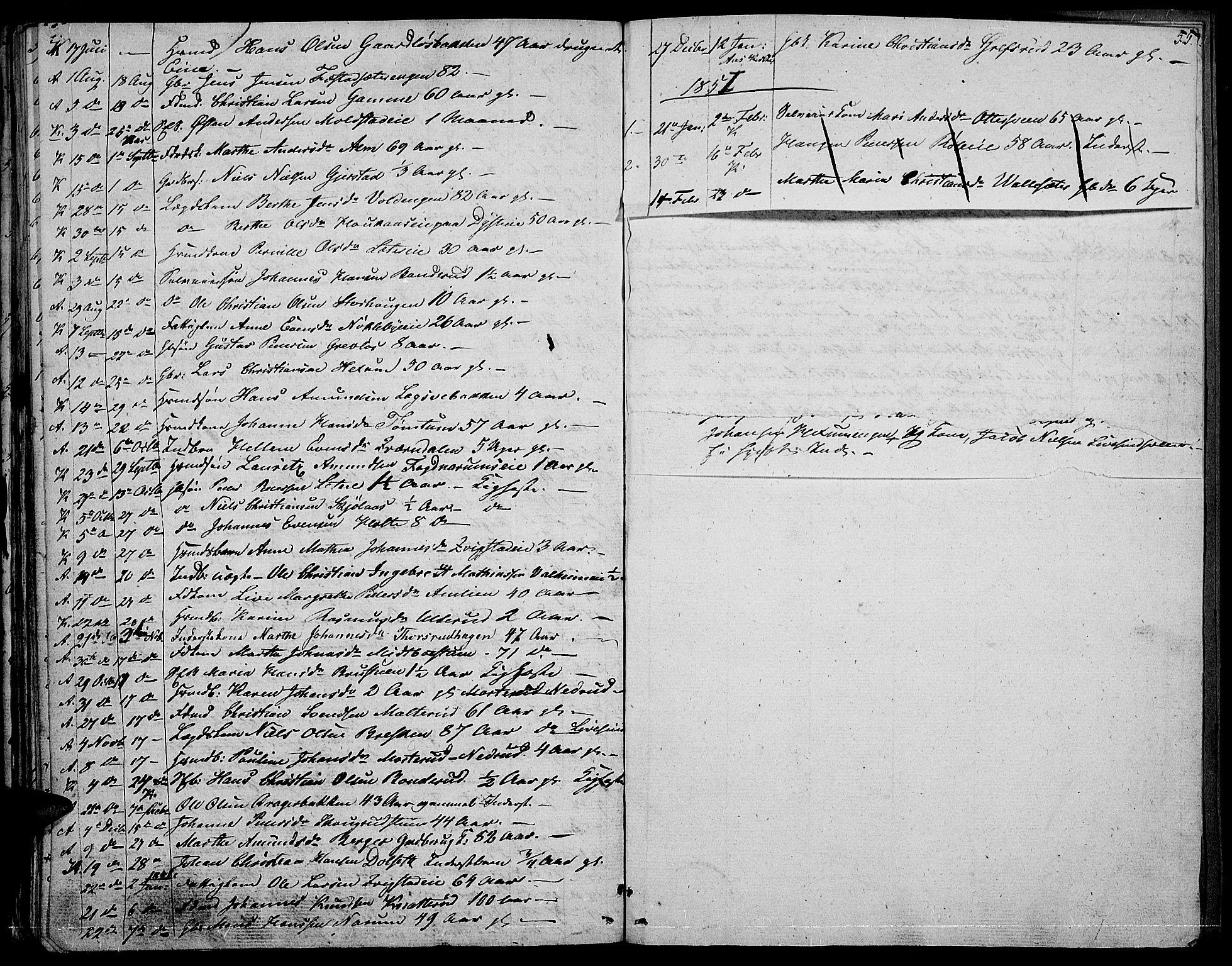 SAH, Vestre Toten prestekontor, H/Ha/Hab/L0003: Klokkerbok nr. 3, 1846-1854, s. 55