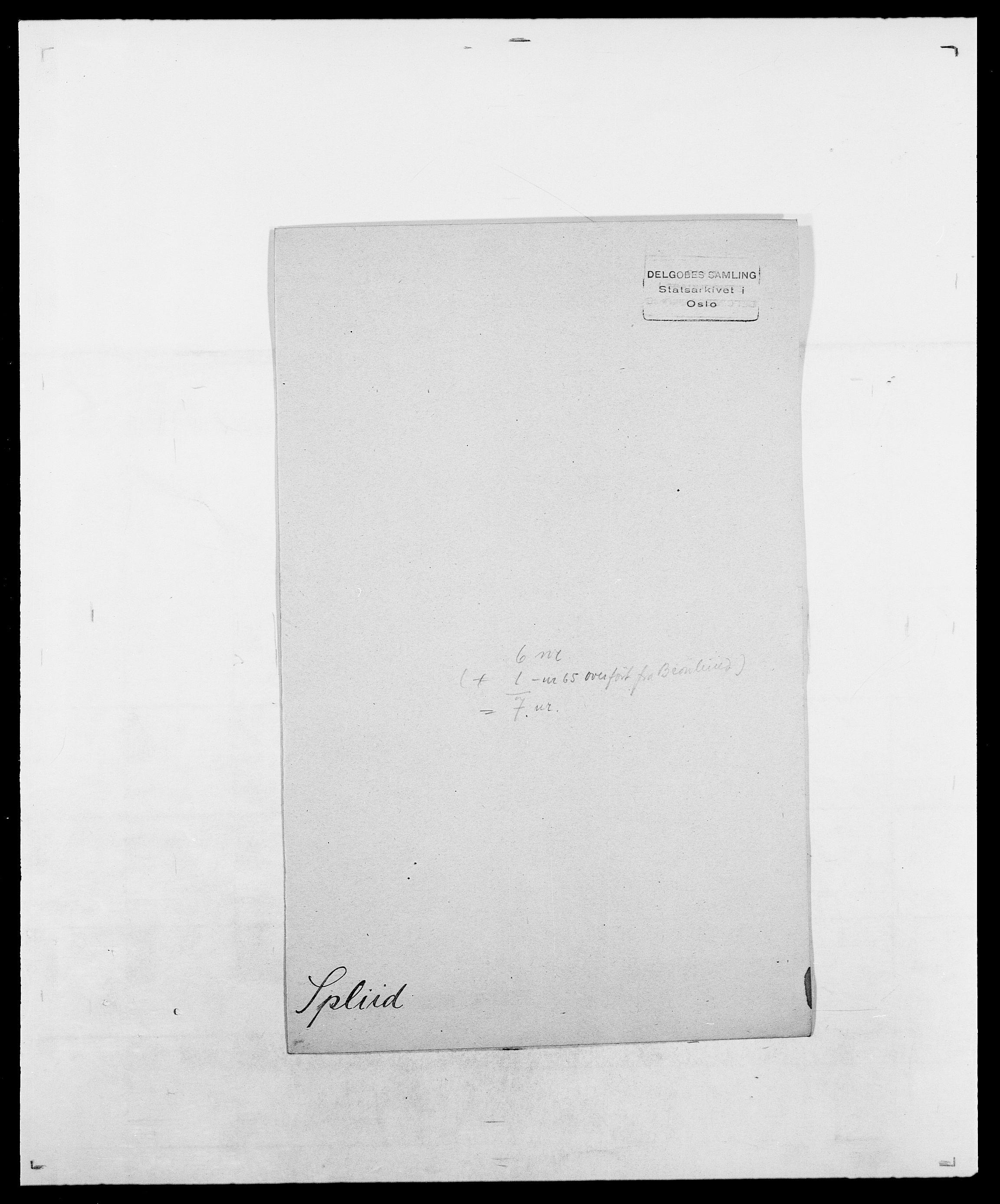 SAO, Delgobe, Charles Antoine - samling, D/Da/L0036: Skaanør - Staverskov, s. 565