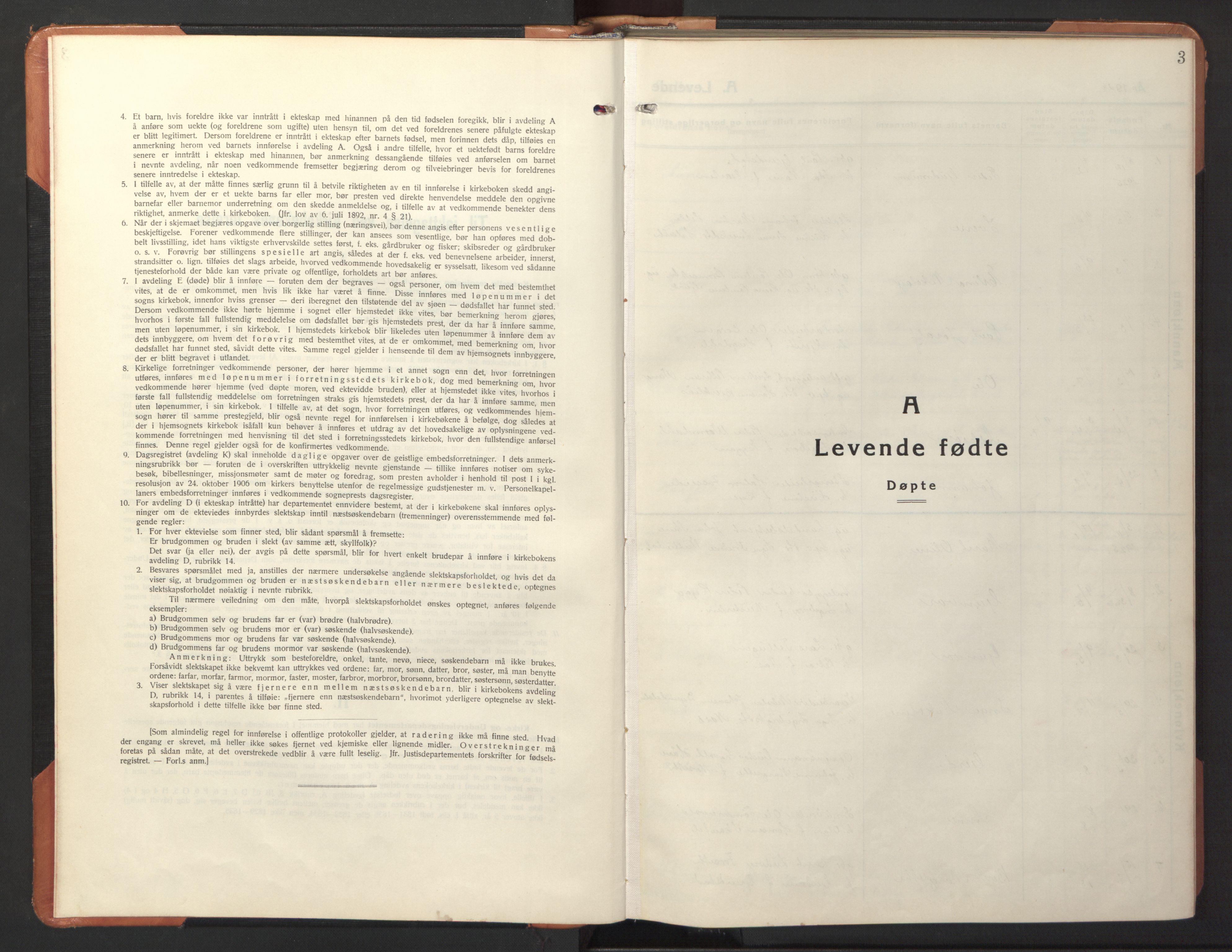 SAT, Ministerialprotokoller, klokkerbøker og fødselsregistre - Sør-Trøndelag, 618/L0454: Klokkerbok nr. 618C05, 1926-1946, s. 3