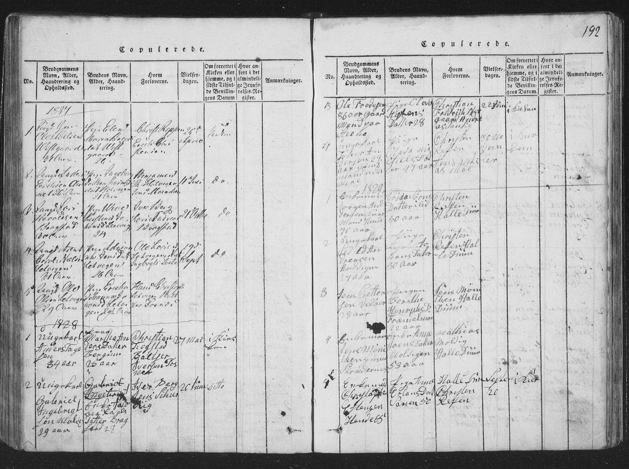 SAT, Ministerialprotokoller, klokkerbøker og fødselsregistre - Nord-Trøndelag, 773/L0613: Ministerialbok nr. 773A04, 1815-1845, s. 192