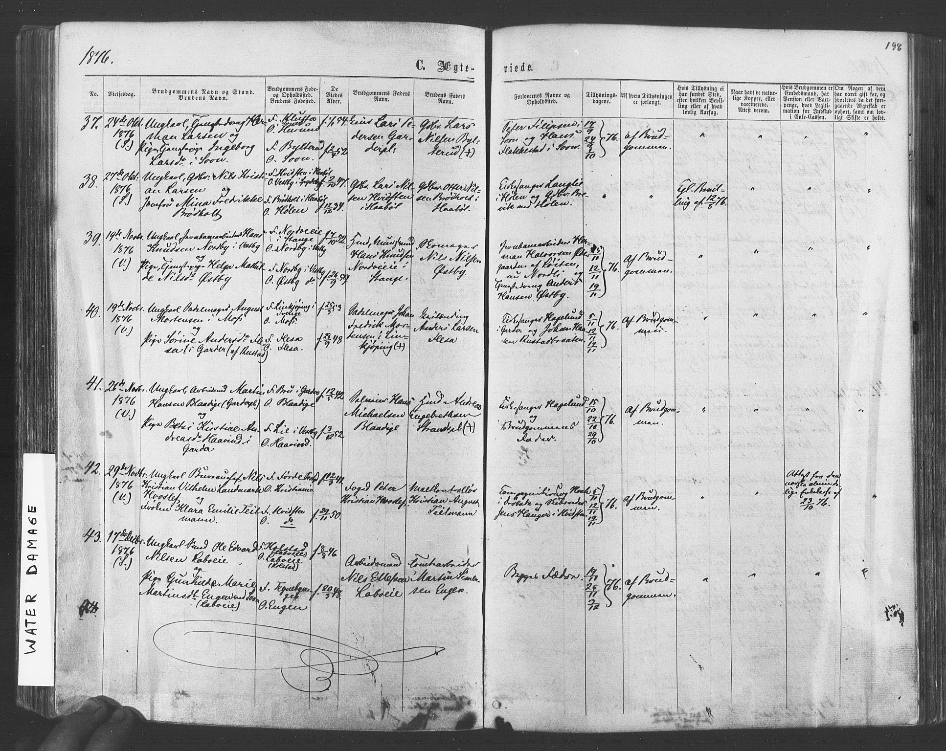 SAO, Vestby prestekontor Kirkebøker, F/Fa/L0008: Ministerialbok nr. I 8, 1863-1877, s. 198